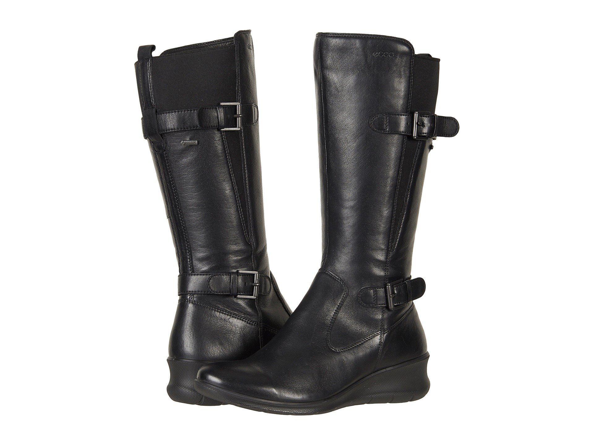 9ce3dddbd3f Lyst - Ecco Babett Wedge Gtx Boot in Black