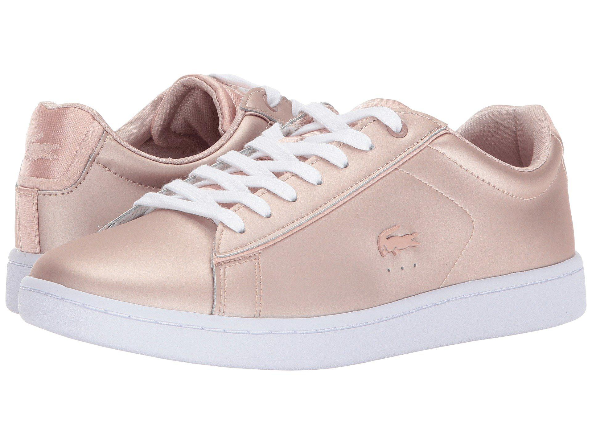 21fd77fb44d79 Lyst - Lacoste Carnaby Evo 118 7 in Pink - Save 34%
