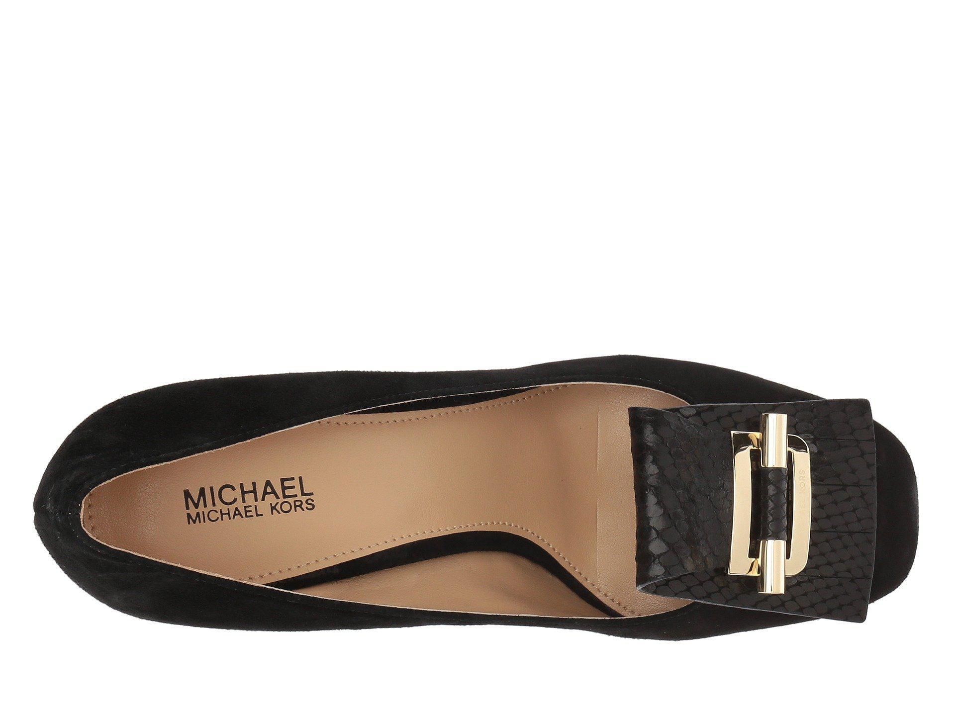 10e13dccc21b Lyst - MICHAEL Michael Kors Gloria Kiltie Pump in Black