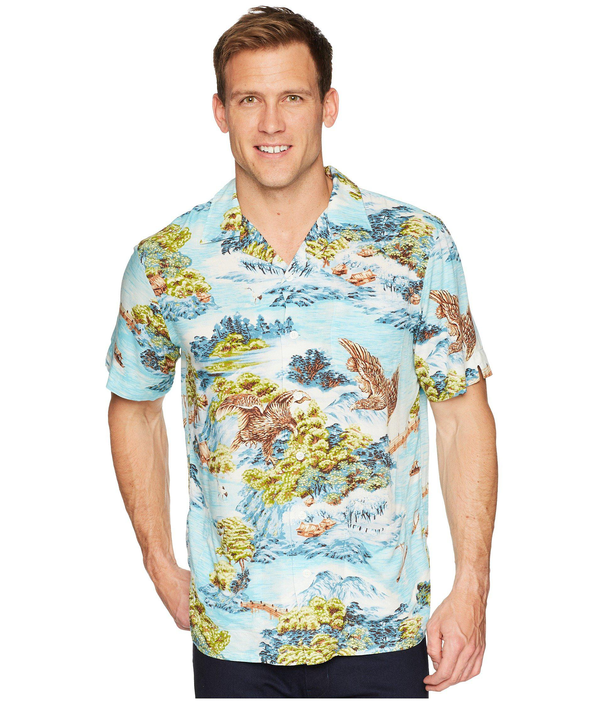 8464b78868453 Lyst - Polo Ralph Lauren Classic Fit Printed Camp Shirt in Blue for ...