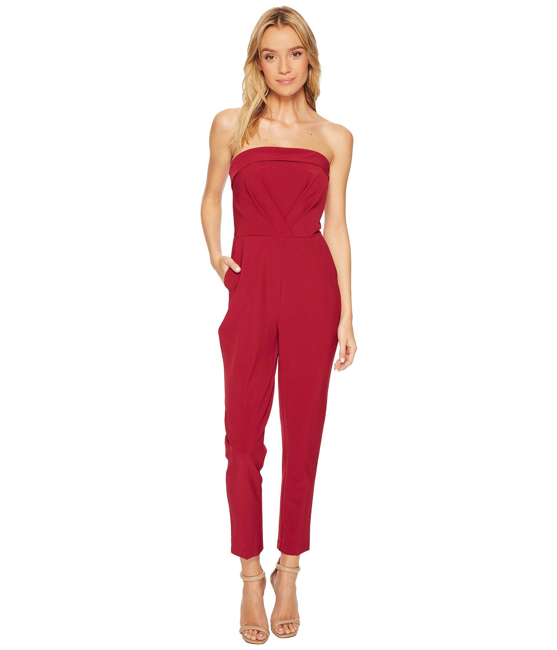 abf6b776e9e Lyst - Adelyn Rae Malia Jumpsuit in Red