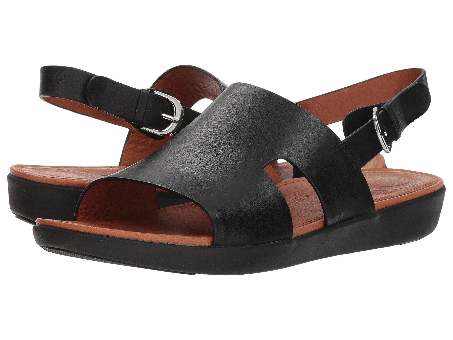 89bcd41d2799 Lyst - Fitflop H-bar Back Strap Sandals in Black
