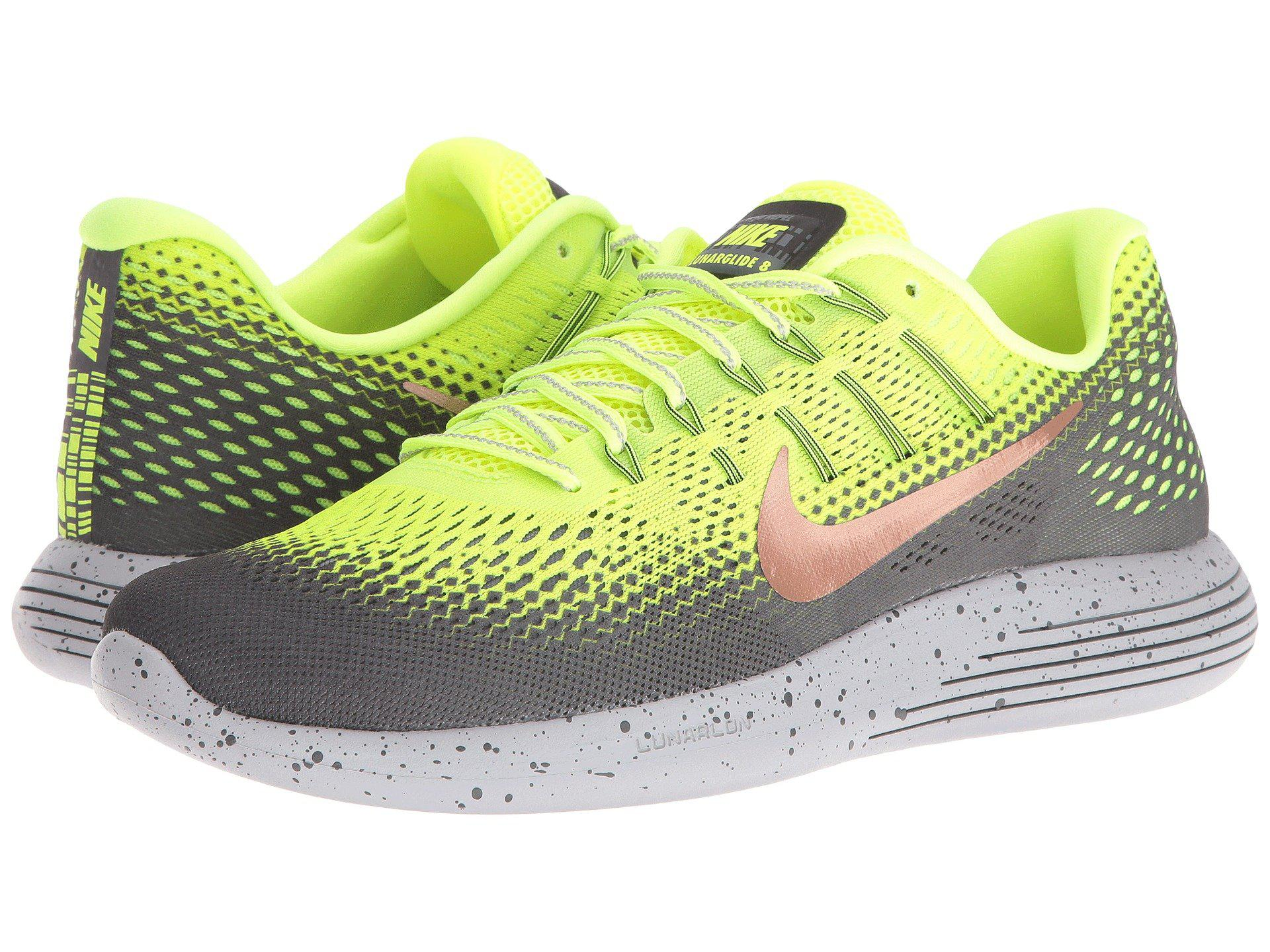 newest 68f04 2076e france nike menx27s lunarglide 8 shield green running shoes 0c546 2301c best  price lyst nike lunarglide 8 shield in gray for men b2aa0 16a22