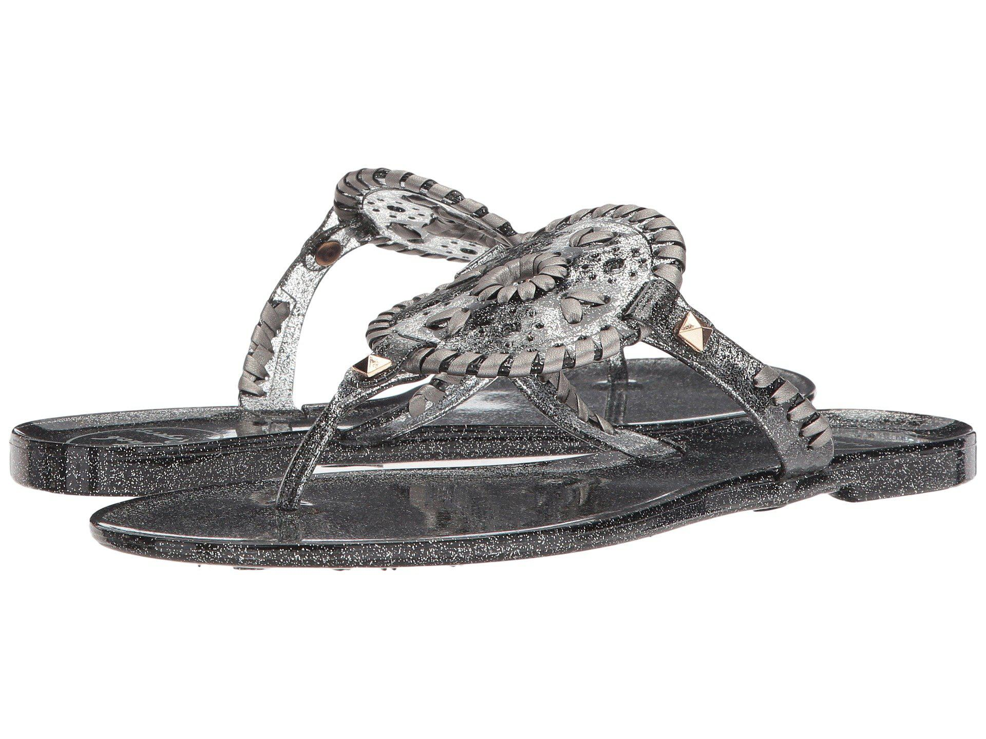 cdc2fe421d50 Lyst - Jack Rogers Sparkle Georgica Jelly in Black - Save 46%