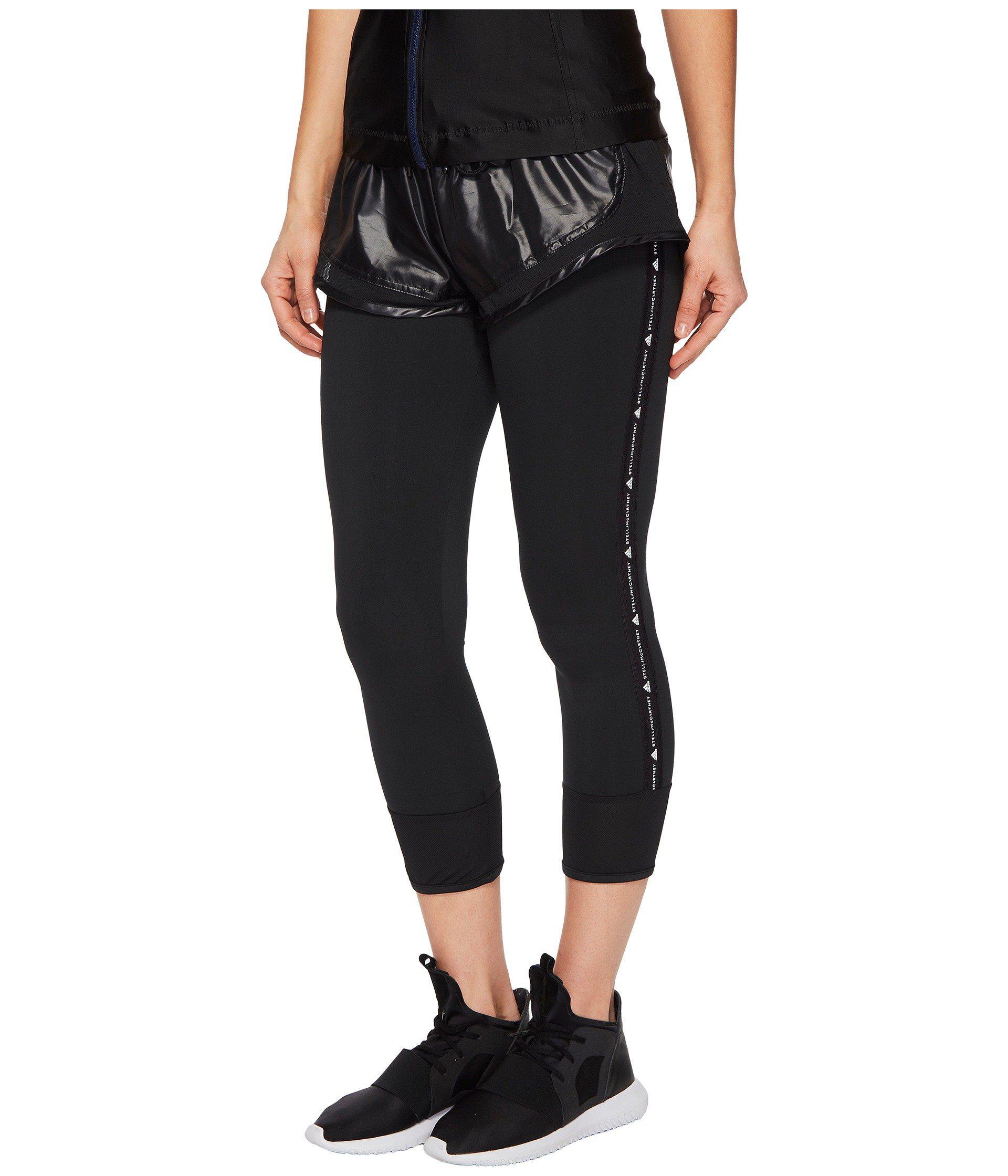 4f04df0242863 Lyst - Adidas By Stella Mccartney Performance Essentials Shorts Over Tights  Cg0899 in Black