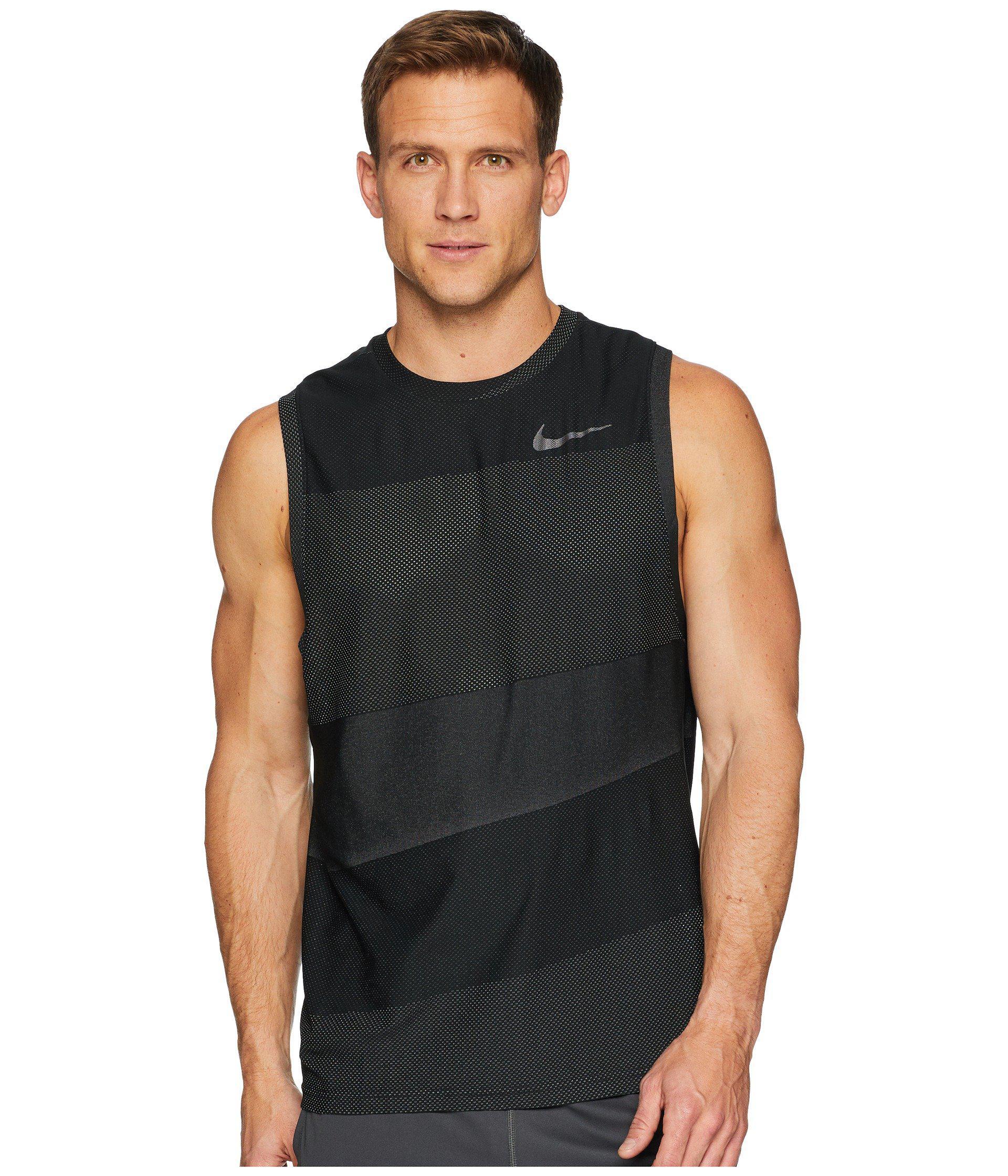 d141a20ceb767 Lyst - Nike Breathe Tank Top Hyper Vent in Black for Men
