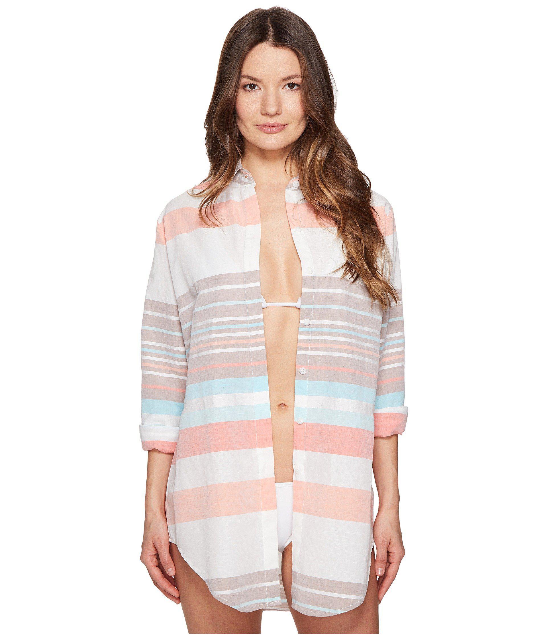 a3abb5649930d Letarte. Women s Stripe Beachshirt