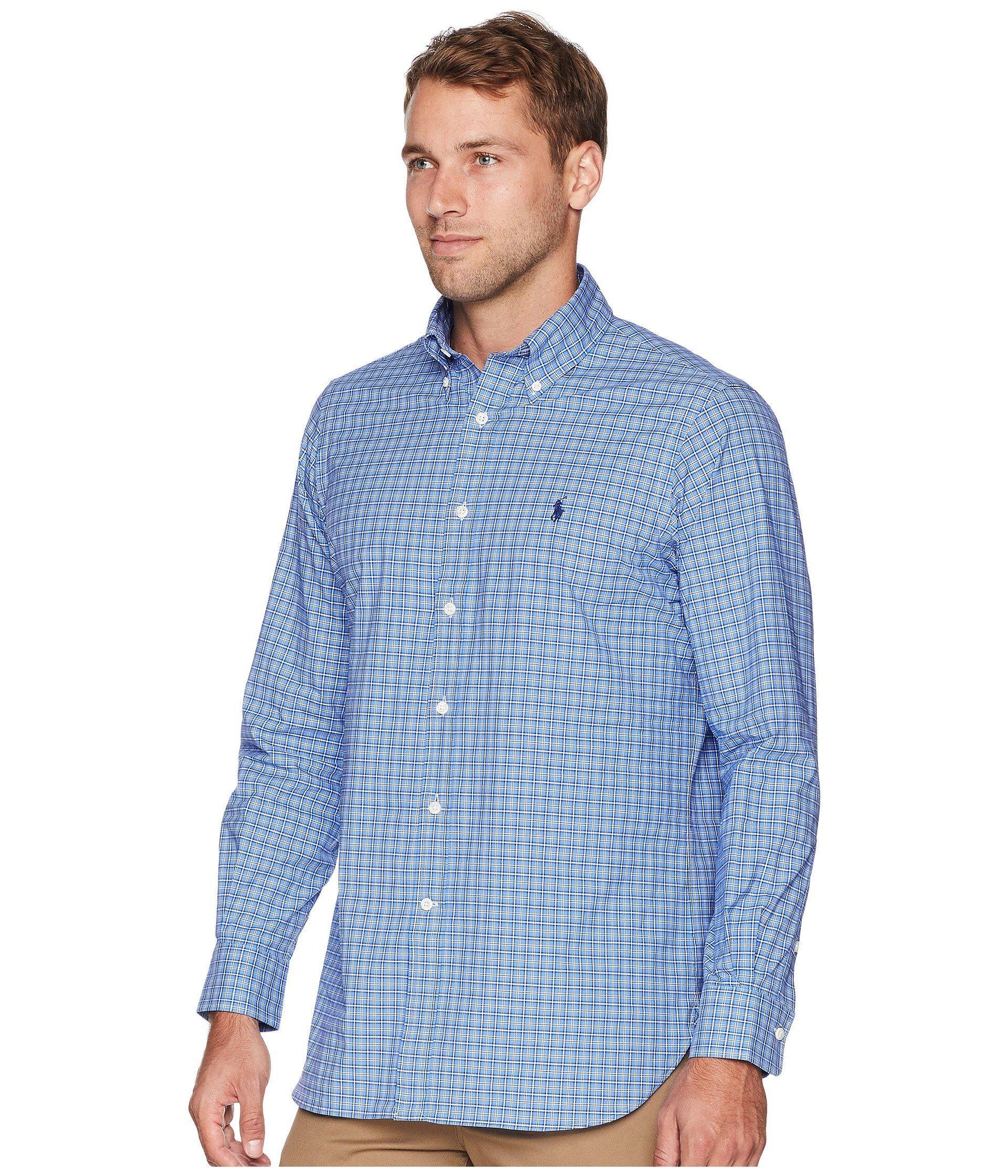 f074b7fba0 Lyst - Polo Ralph Lauren Classic Fit Luxury Poplin in Blue for Men