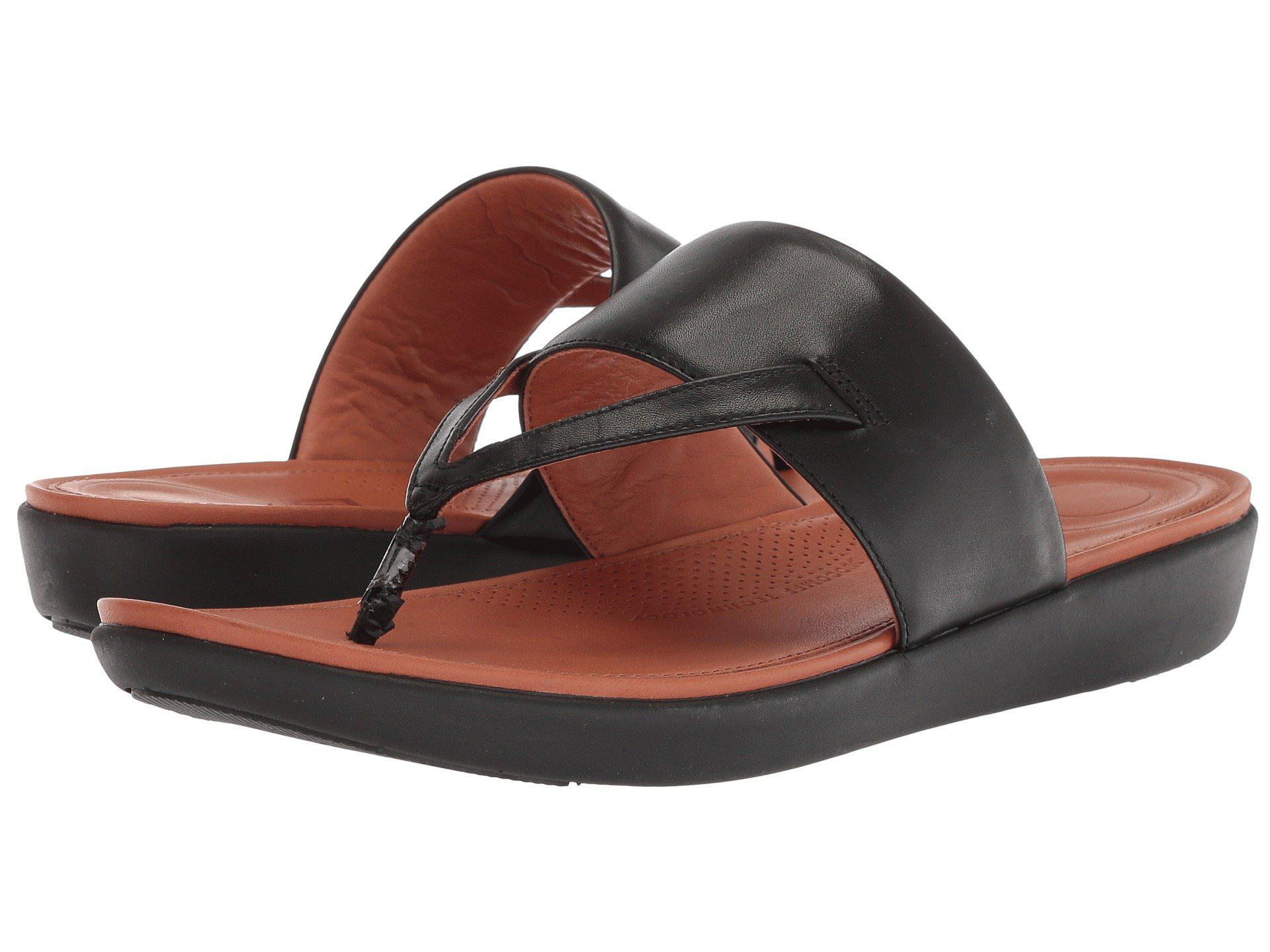 8c470141263 Lyst - Fitflop Delta Toe Thong Sandals in Black - Save 29%