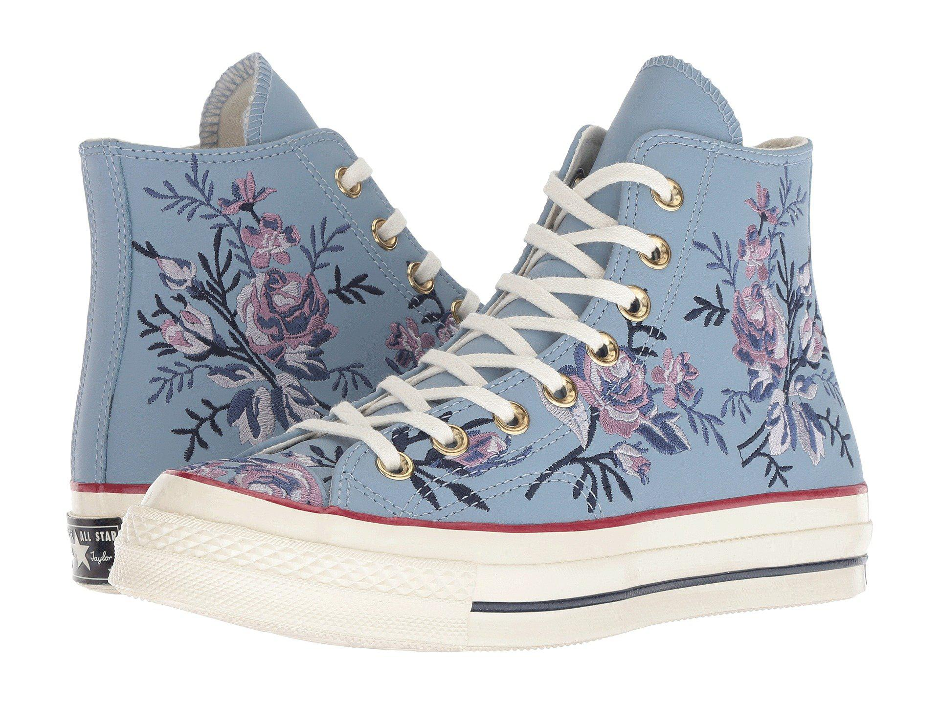 Lyst - Converse Chuck 70 - Parkway Floral Hi in Blue a5aa44b07