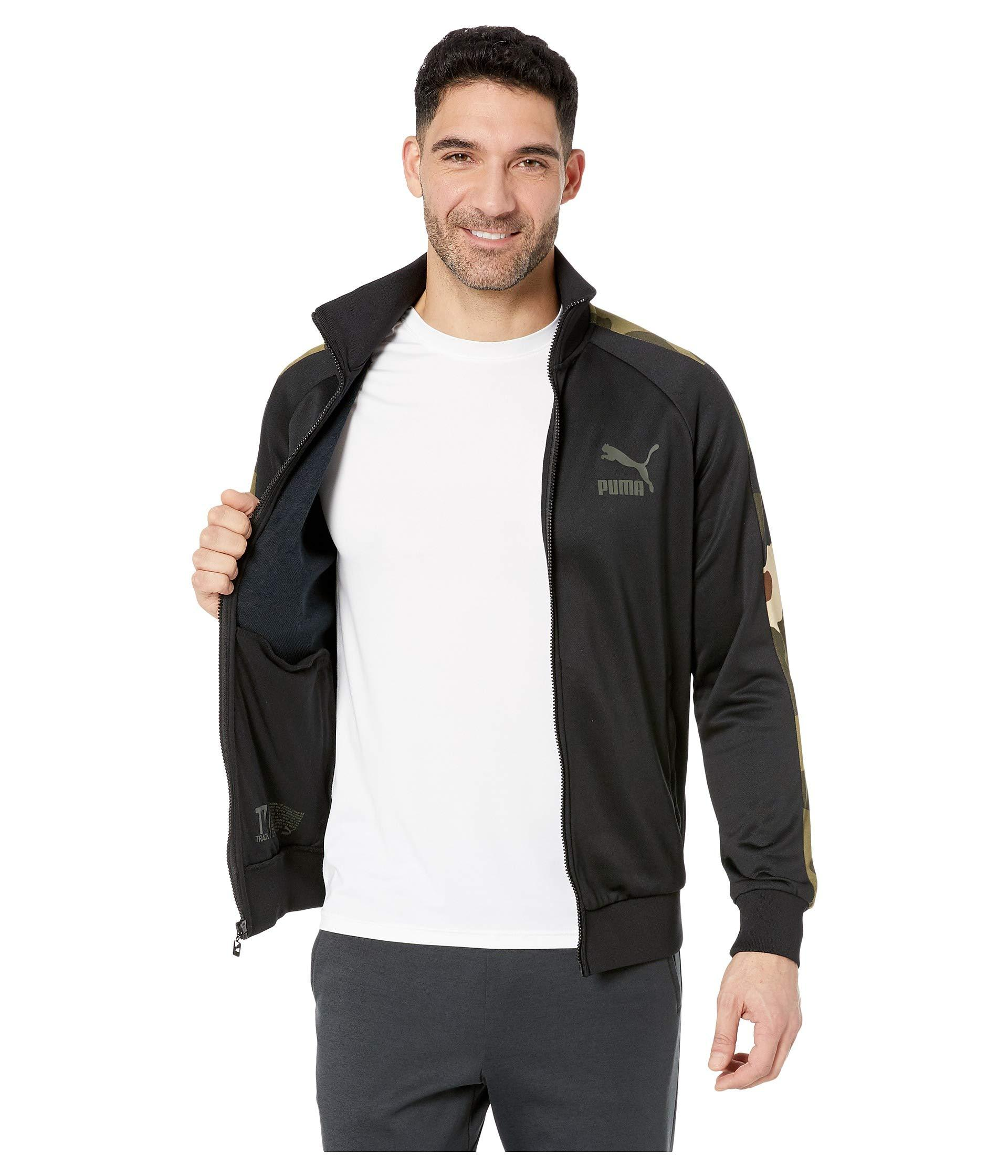 cd92f5228afd Lyst - PUMA Wild Pack T7 Track Jacket in Black for Men - Save 8%