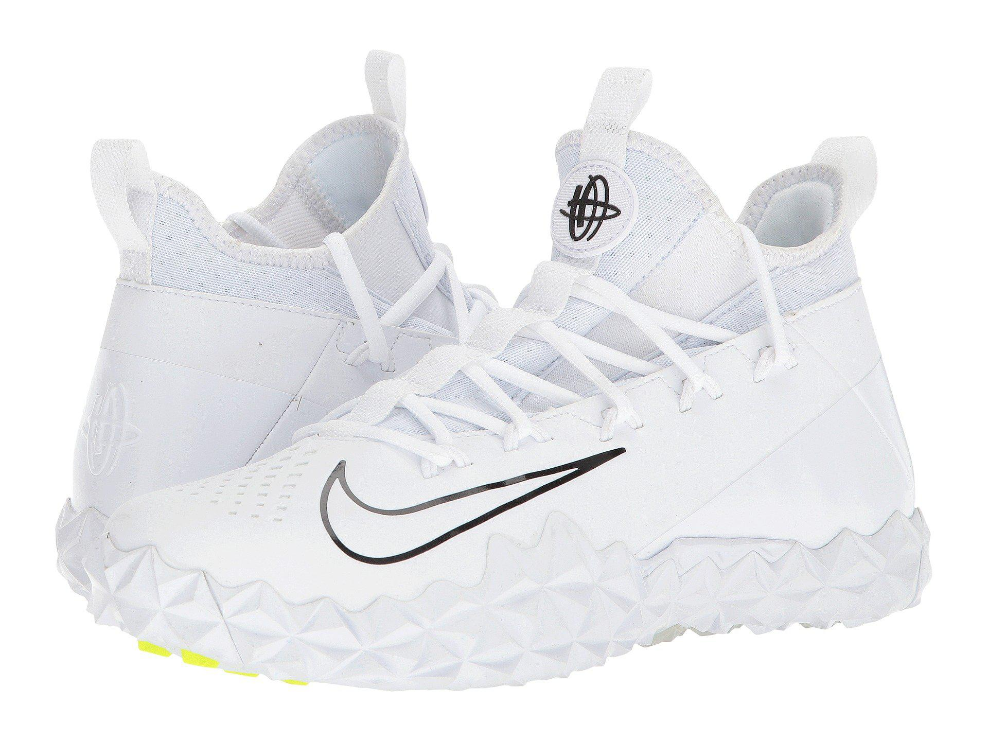 new concept 2a34d 57cfb Nike Alpha Huarache 6 Elt Turf Lax in White for Men - Lyst