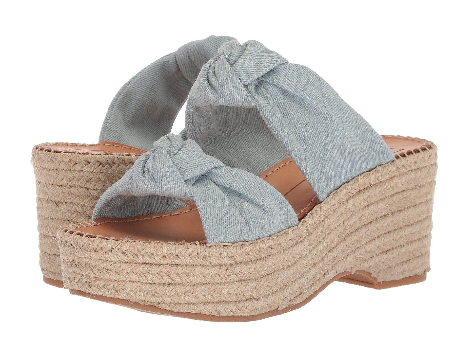 b0c13ab2c46 Lyst - Dolce Vita Lera Espadrille Wedge Sandal in Blue - Save 23%