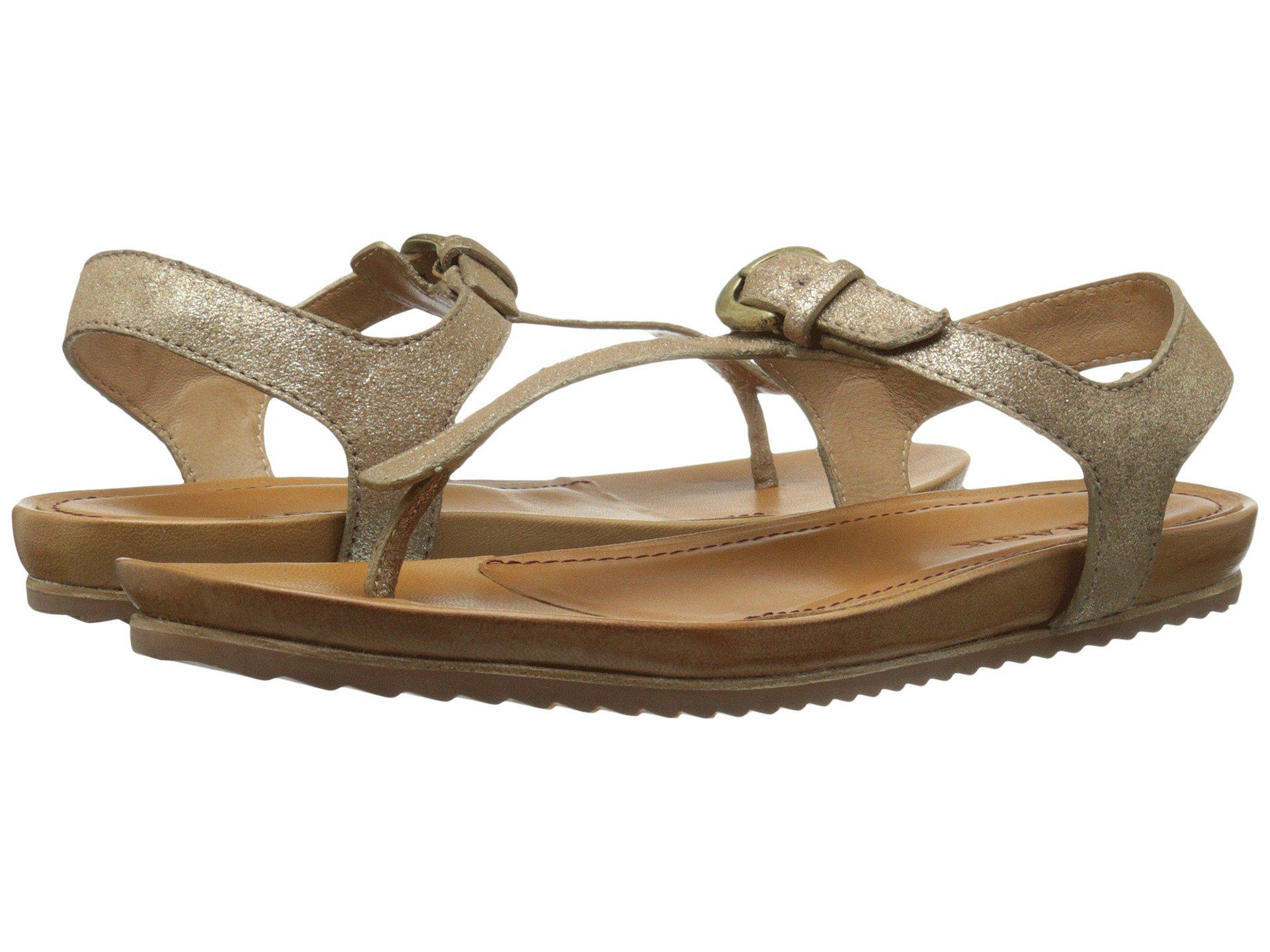 Trask Hollyn Gold Metallic Suede Women
