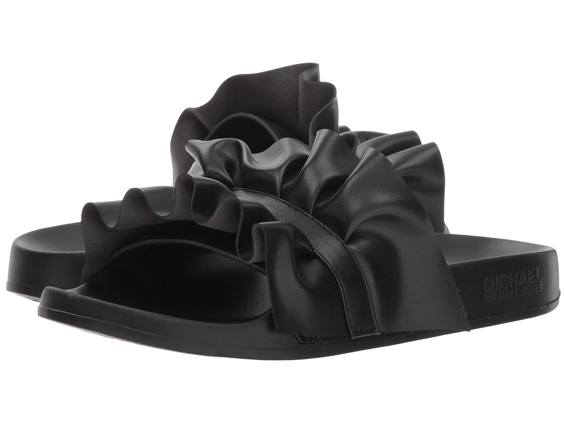 d68ada95b556 Lyst - Michael Michael Kors Bella Sport Slide in Black