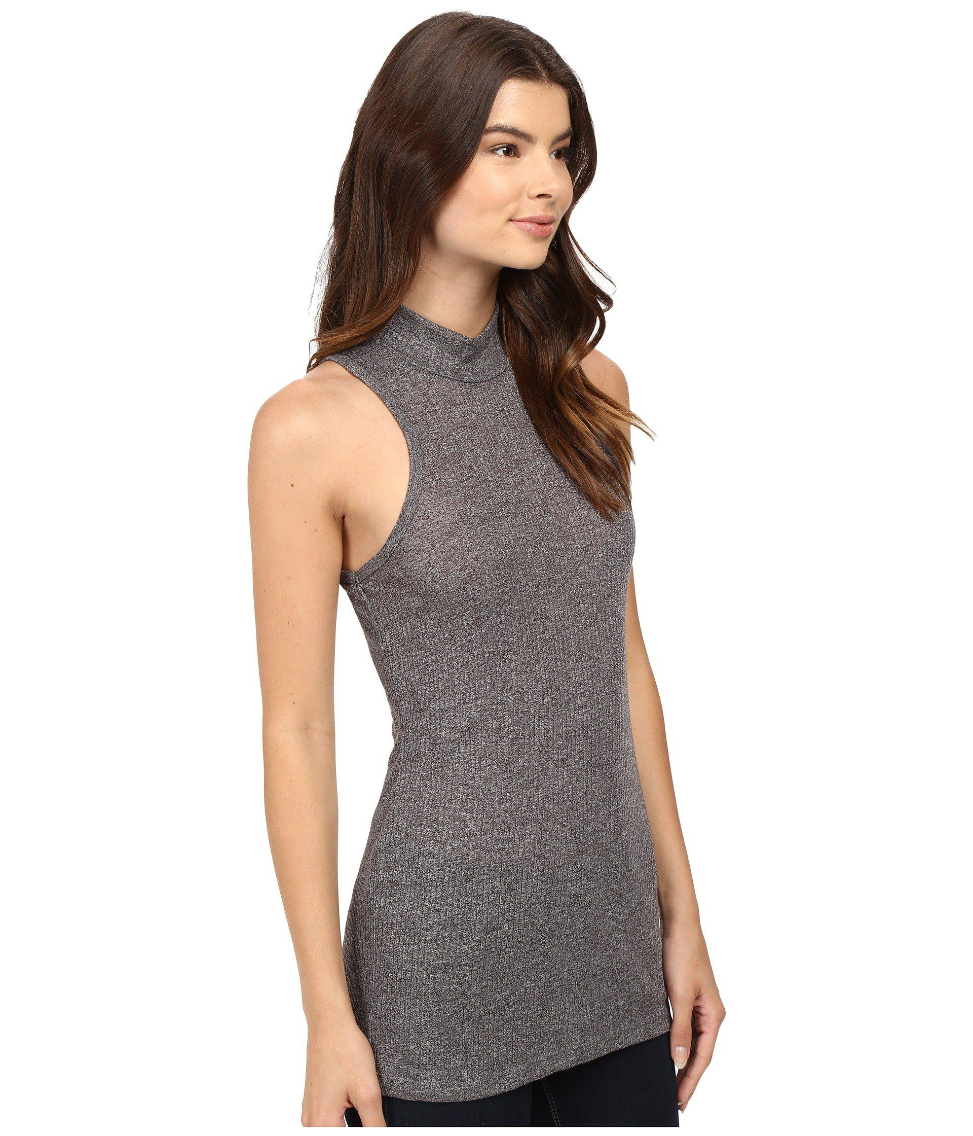 f725a77d91c Obey Westling Mock Neck Tank Top in Gray - Lyst