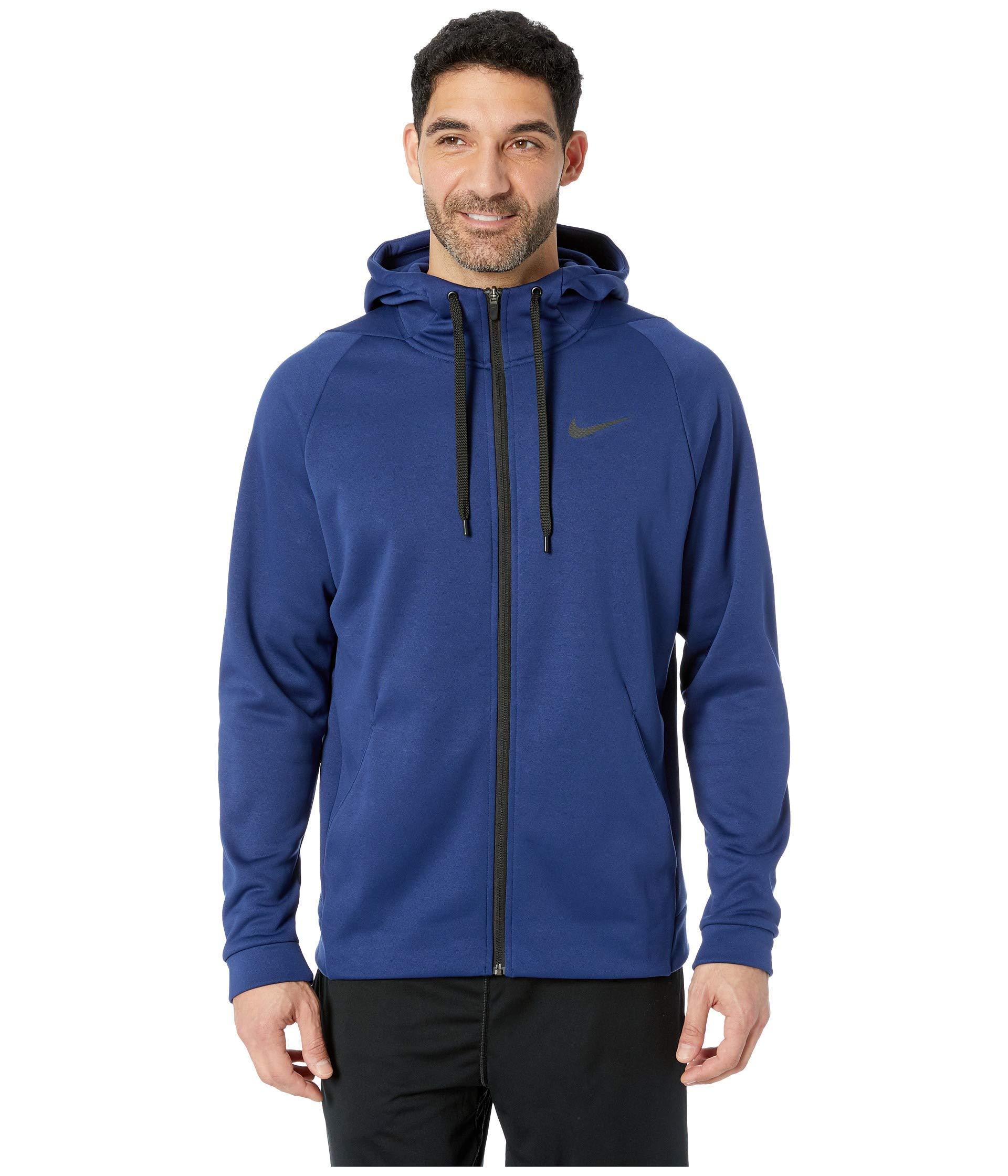 d9c6e9195788 Lyst - Nike Dri-fit Therma Men s Full-zip Training Hoodie in Blue ...