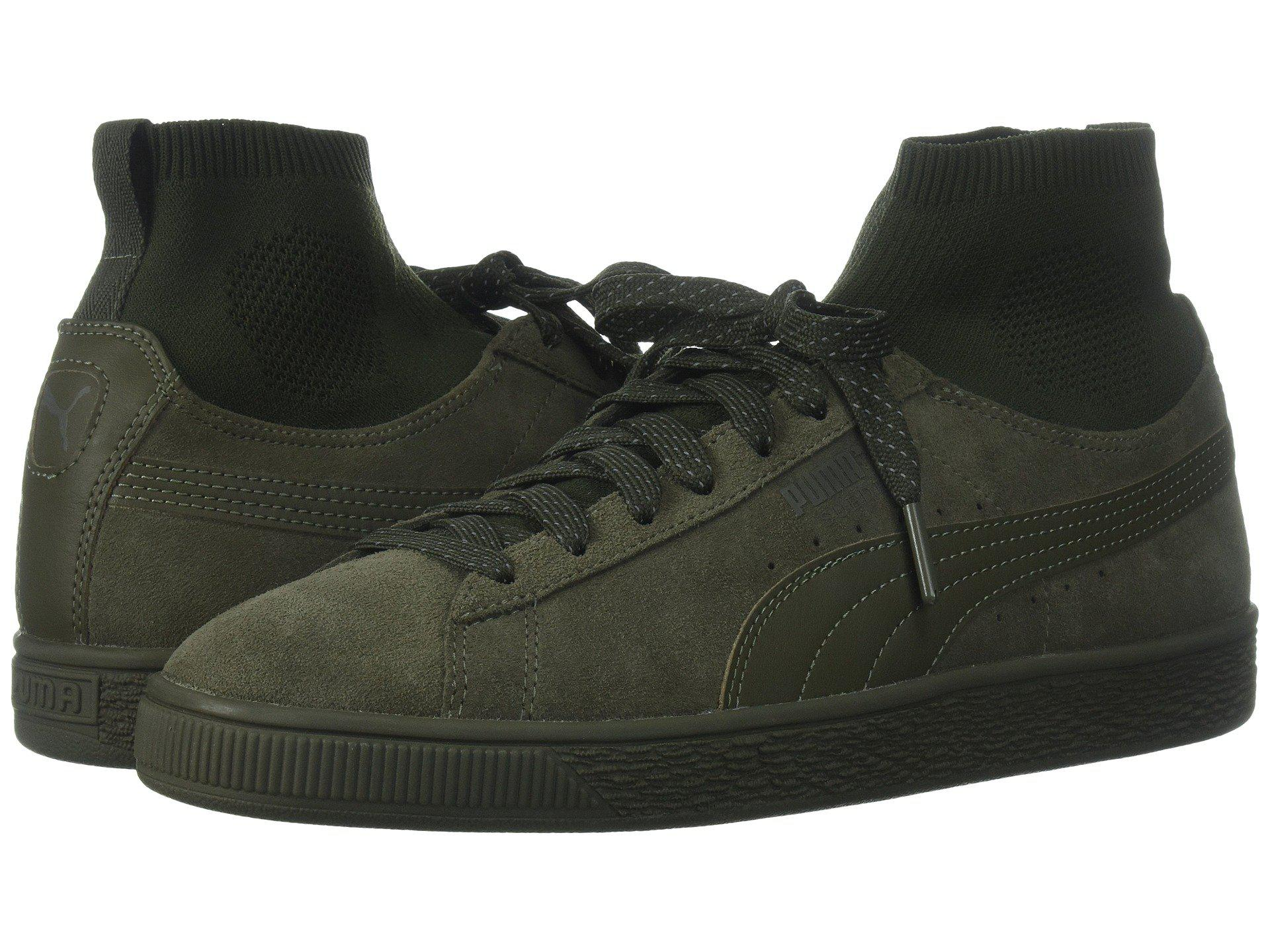 84bd612a416b Lyst - PUMA Suede Classic Sock in Green for Men