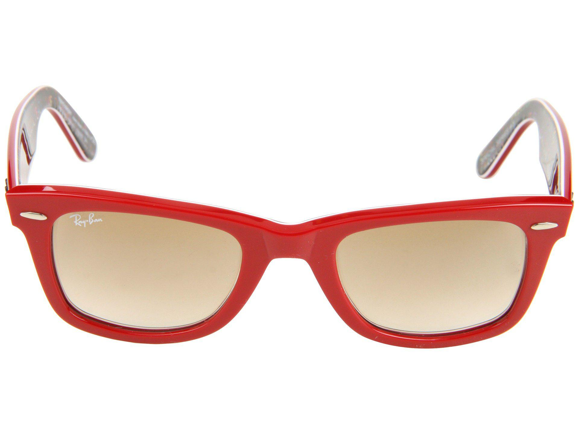 2ec0fb7e8f Lyst - Ray-Ban Rb2140 Original Wayfarer 50 Medium in Red