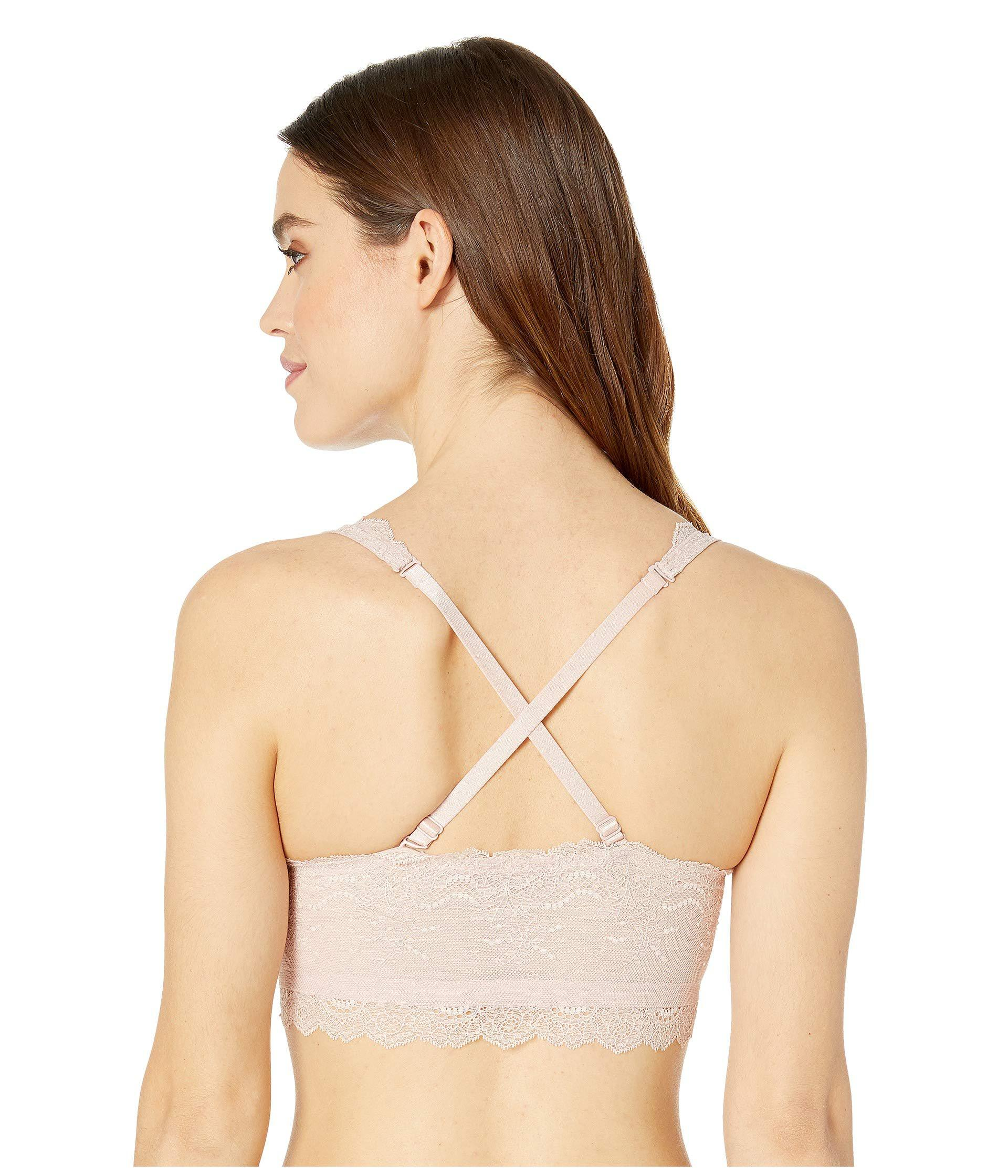 f48d233de86 Lyst - Spanx Four Play Lace Bra in Natural