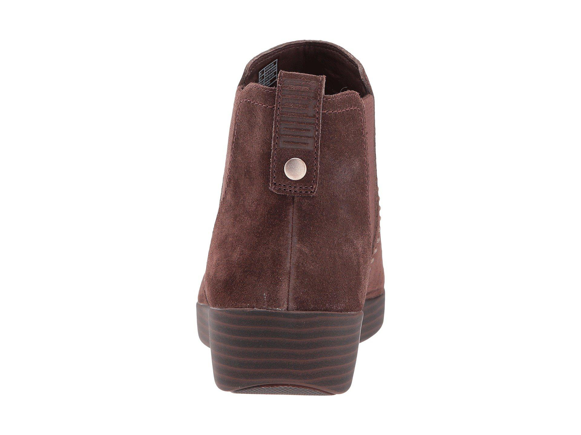 9b82063560 Lyst - Fitflop Superchelsea Suede Boot W  Studs in Brown - Save 22%