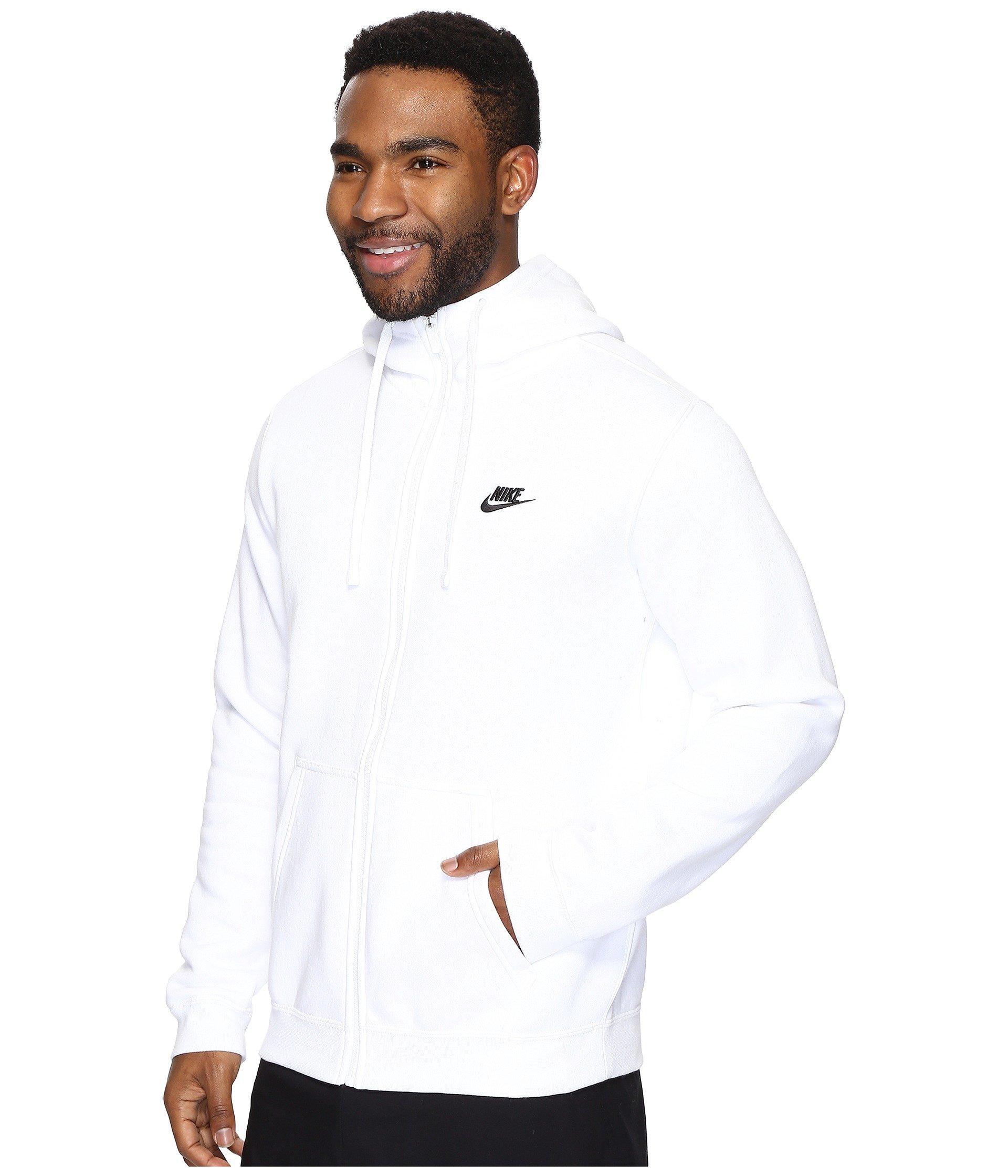 ad6559ed1 Lyst - Nike Club Fleece Full-zip Hoodie in White for Men