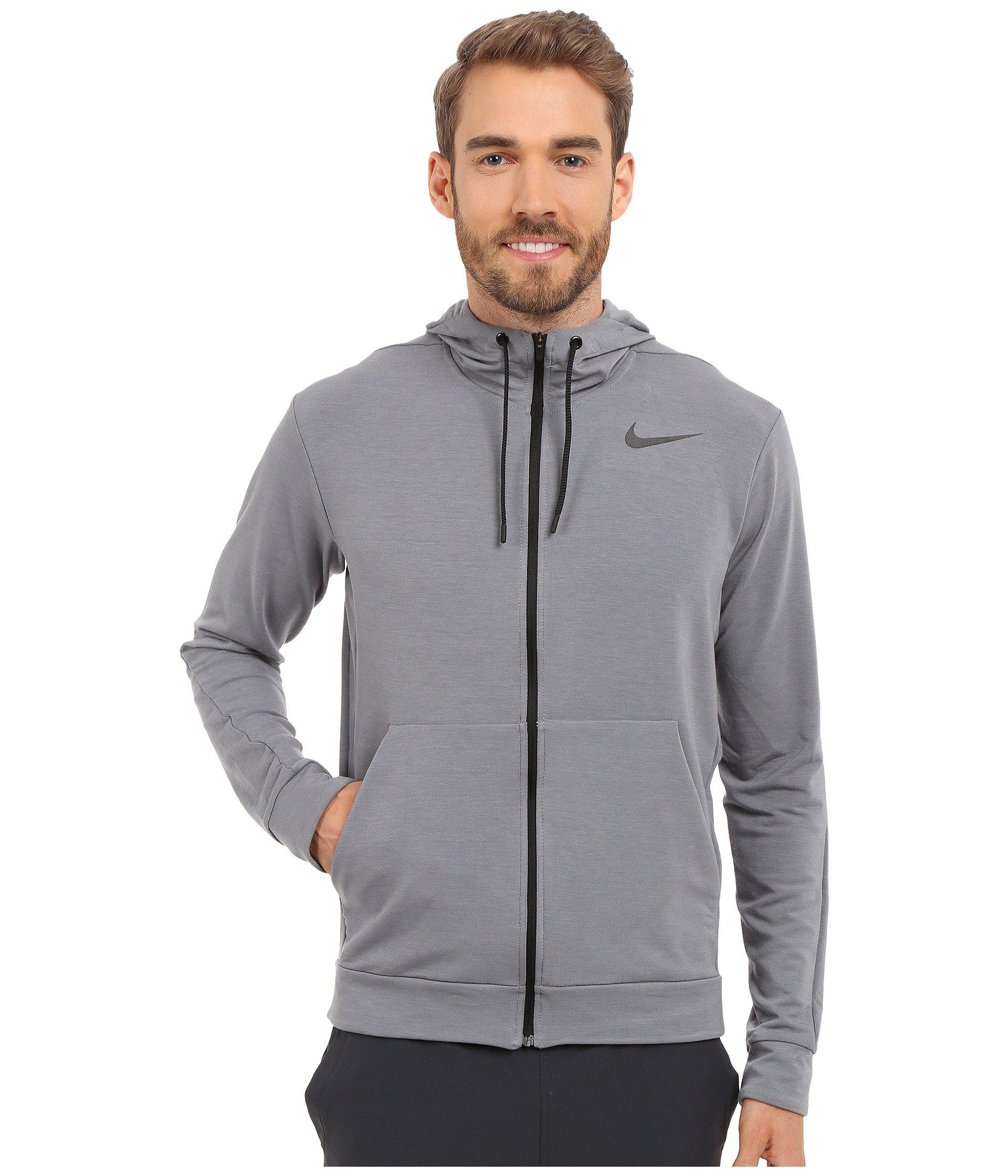 Lyst - Nike Dri-fittm Fleece Full-zip Training Hoodie in Gray for Men 3e3021bca