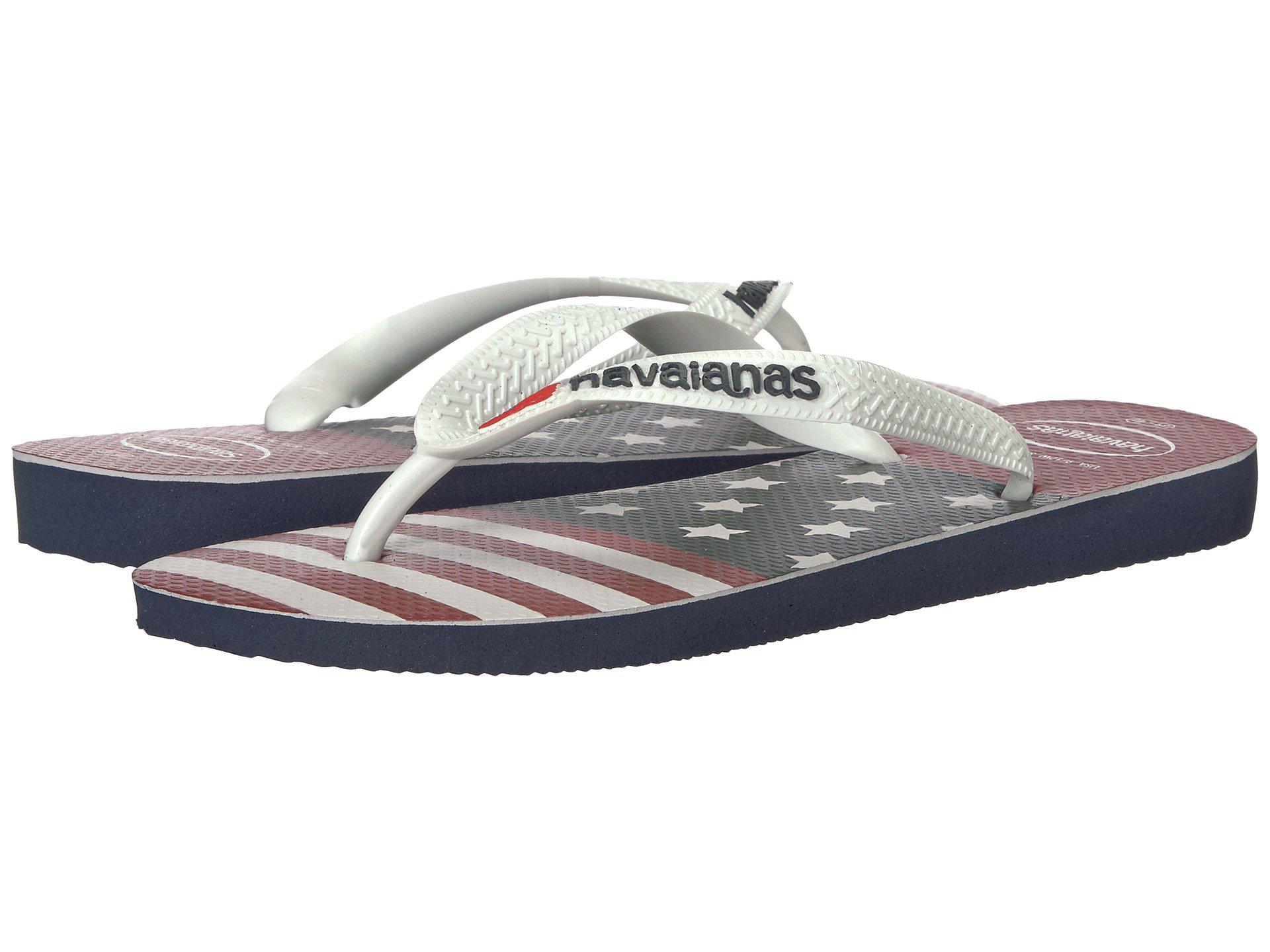 b65b105f49bcbf Lyst - Havaianas Top Usa Stars And Stripes Flip-flops in Blue for ...