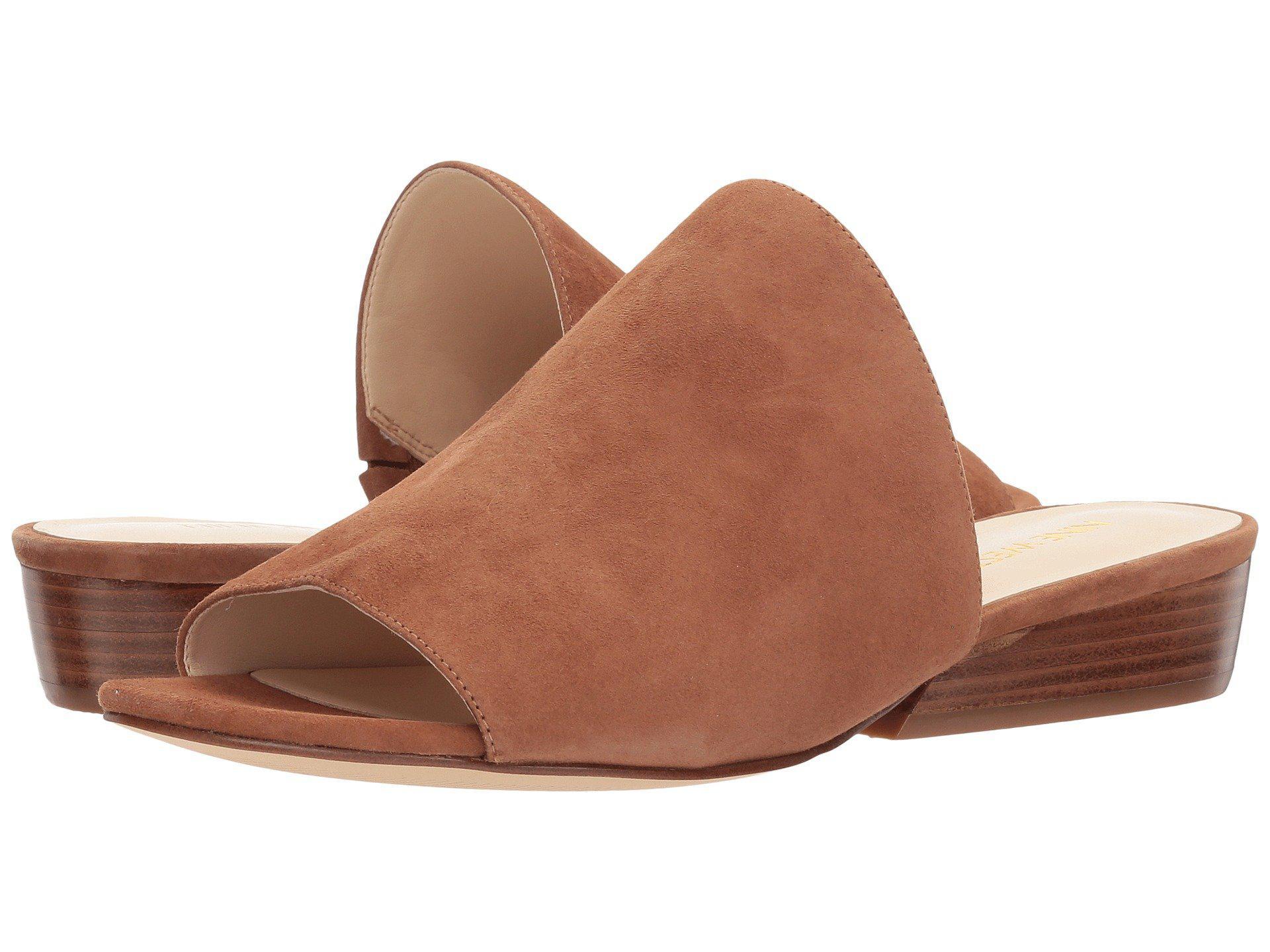 69b384ee122 Lyst - Nine West Lynneah Slide Sandal in Brown - Save 46%