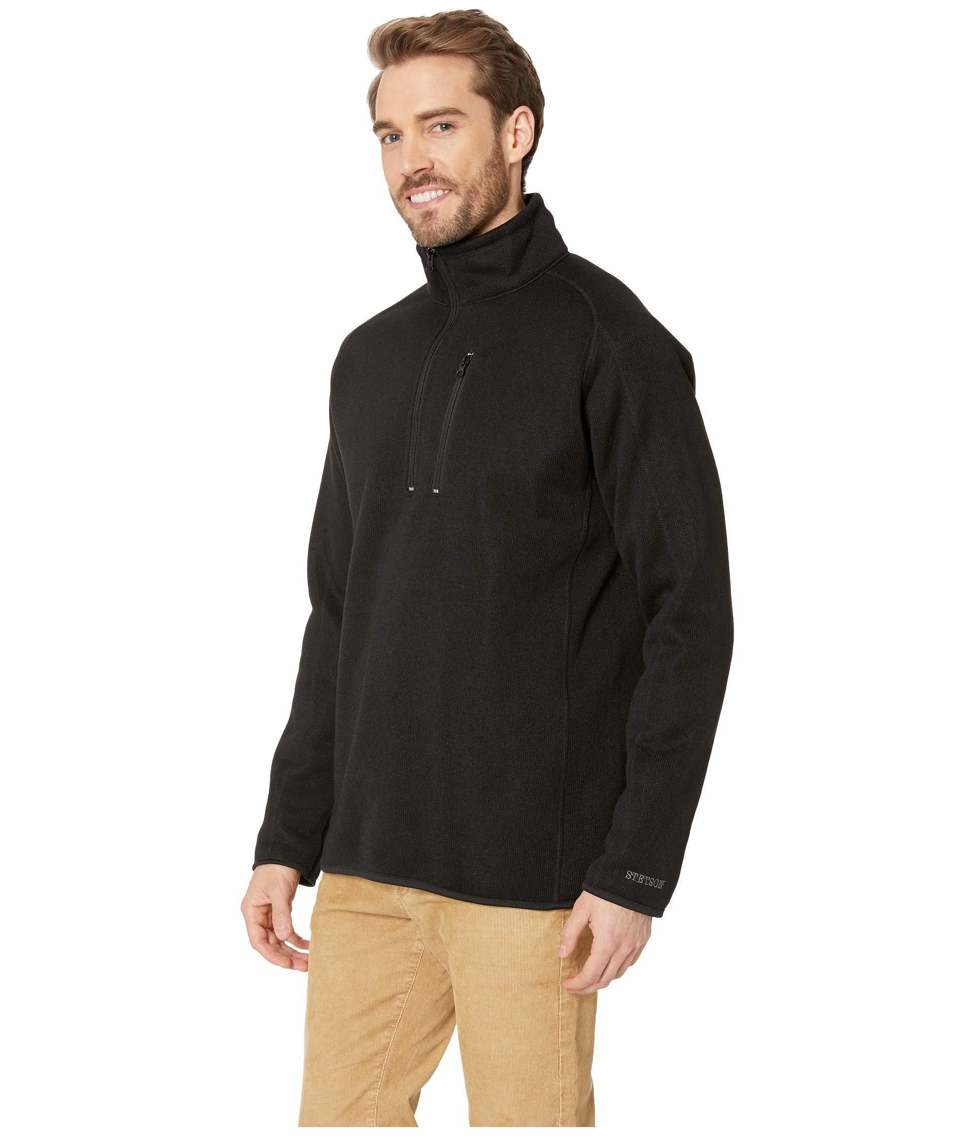 62ceeaec Lyst - Stetson 2393 Bonded Sweater in Black for Men - Save 38%