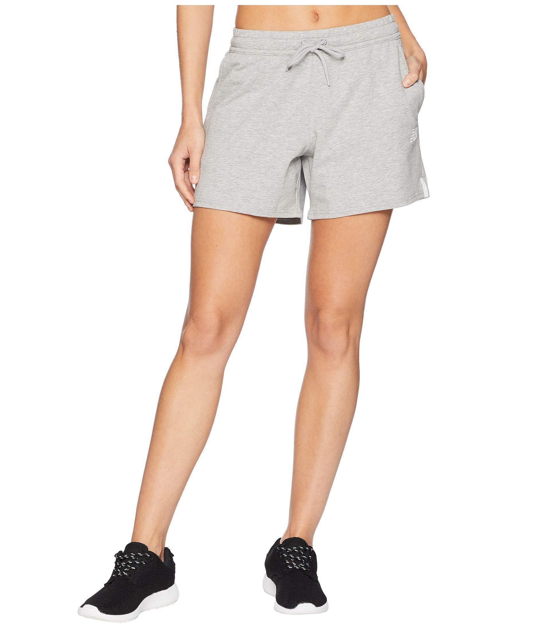 b4f674f4a048e Lyst - New Balance Nb Athletic Knit Shorts in Gray