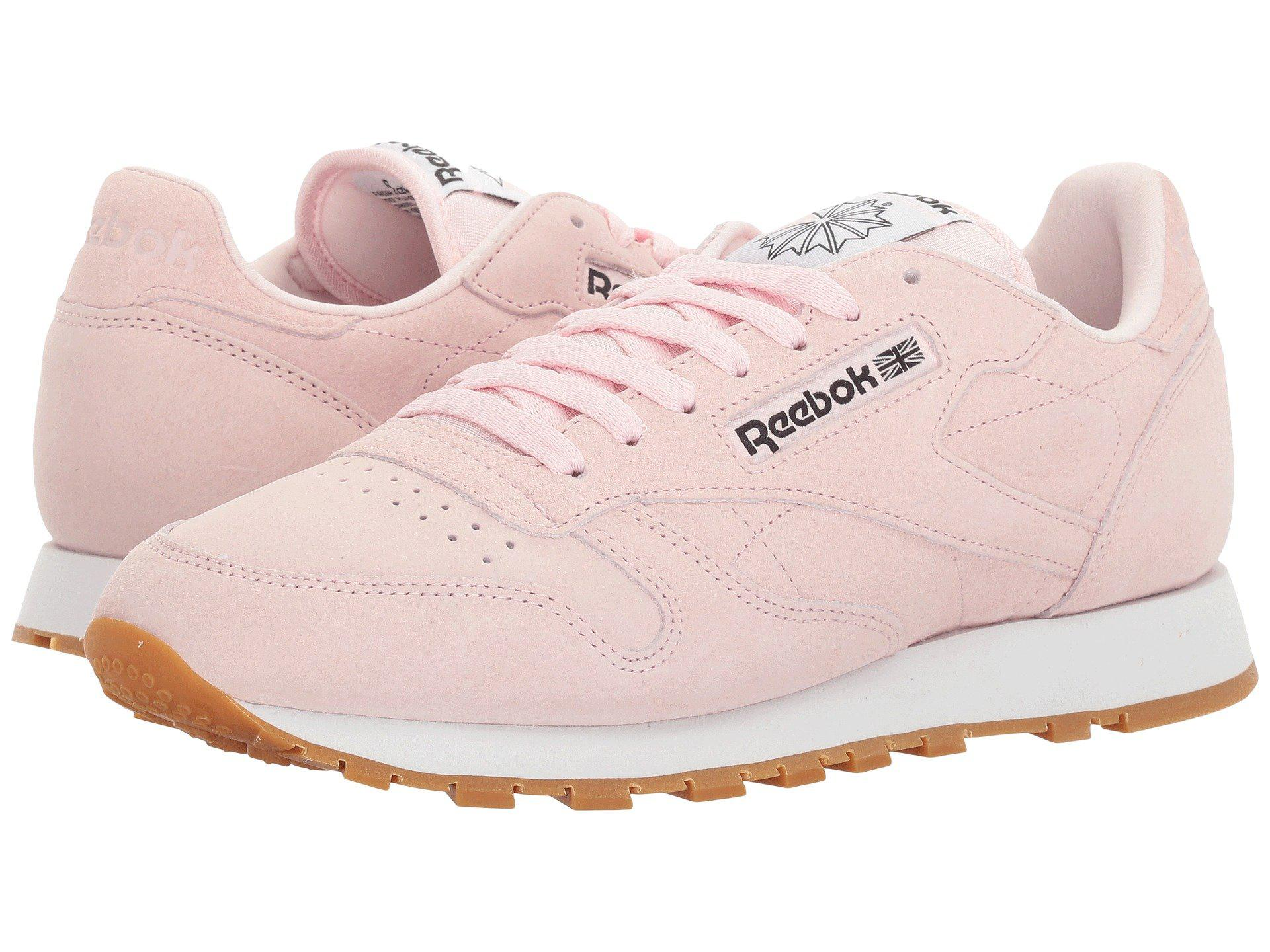 Reebok Womens Pink Classic Leather Pastels