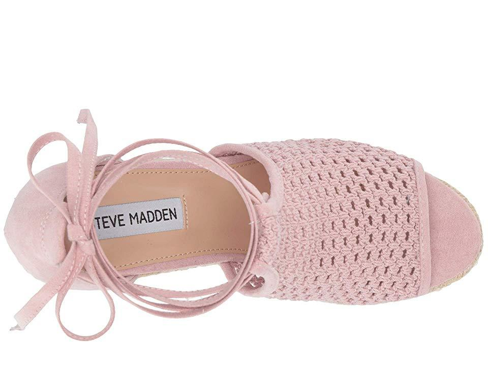e538948d75 Steve Madden - Pink Sure Wedge Sandal (blush) Wedge Shoes - Lyst. View  fullscreen