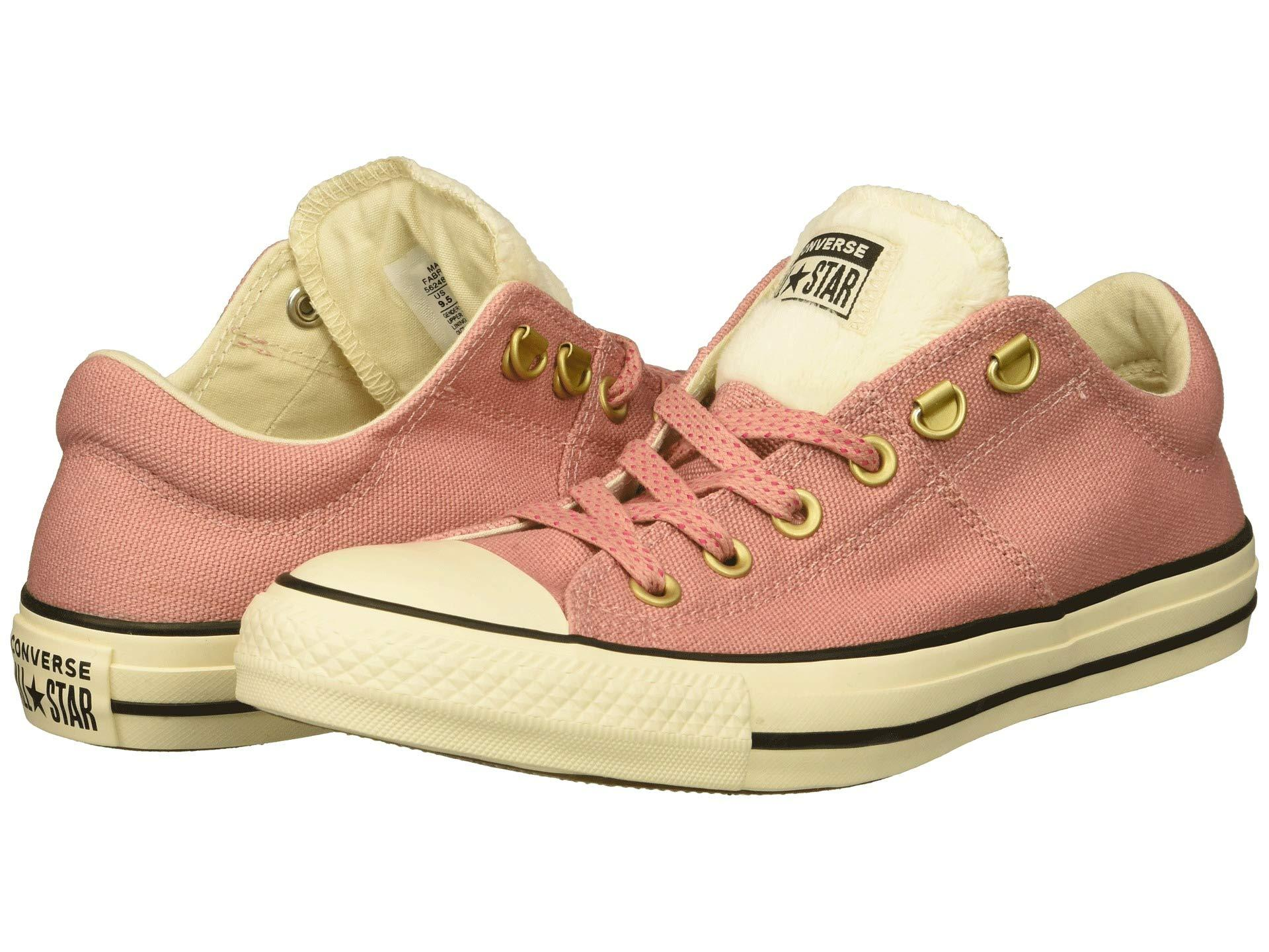35a1dd25078f Converse - Pink Chuck Taylor All Star Faux Fur Madison Low Top Sneaker -  Lyst. View fullscreen