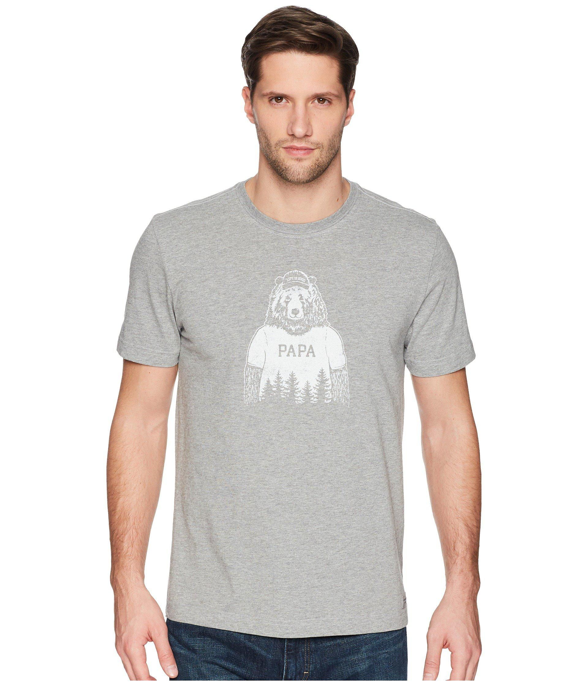 ef2f301665e Lyst - Life Is Good. Papa Bear Crusher Tee in Gray for Men