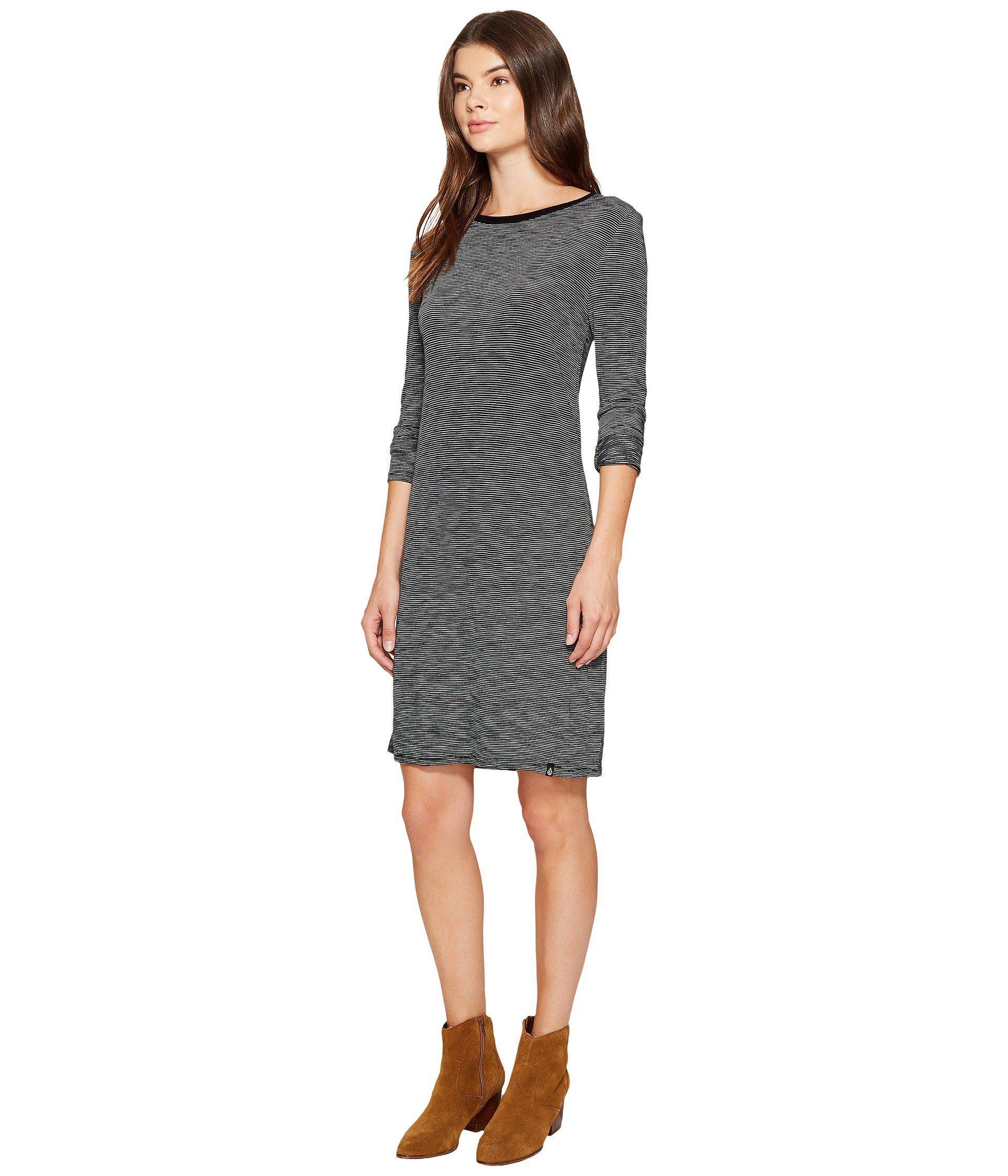 bf08fd2c9c Lyst - Volcom Lil Long Sleeve Dress in Black - Save 4%