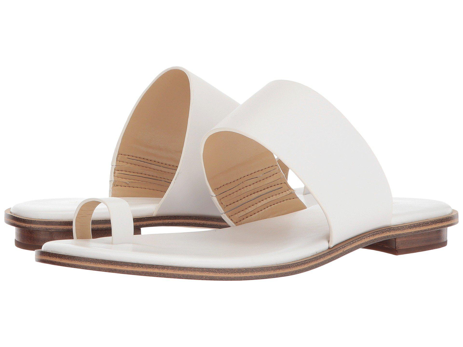 17fbfa32f62 Lyst - MICHAEL Michael Kors Sonya Flat Sandal in White