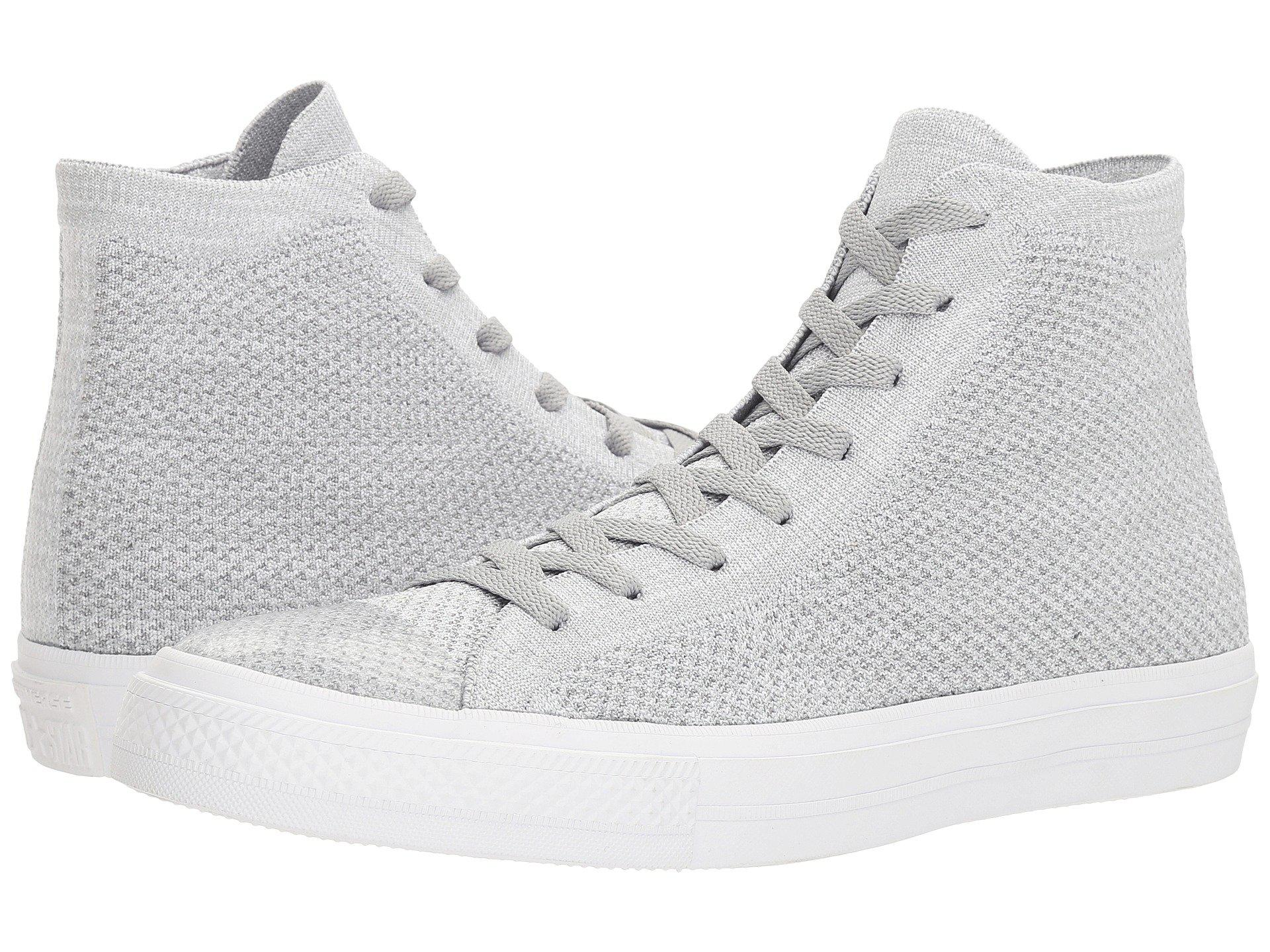 32209ac05111 Lyst - Converse Chuck Taylor® All Star® X Nike Flyknit Hi in Gray ...
