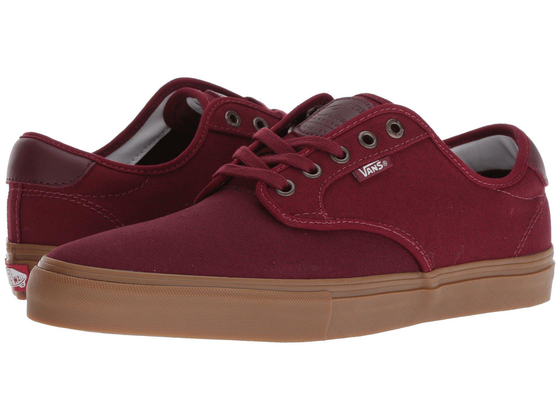 cd01c3788e Lyst - Vans Chima Ferguson Pro Port Cabernet   Gum Mens Shoes in Red ...