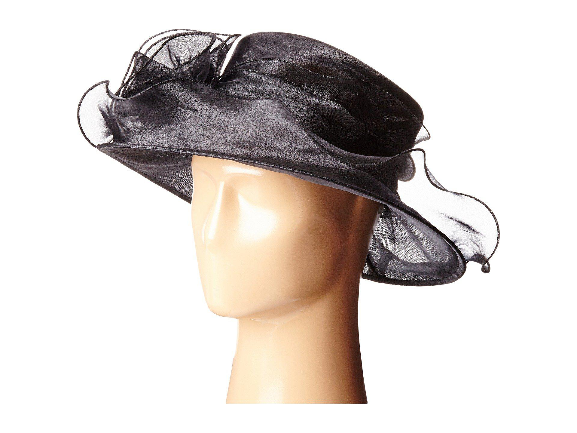 dfb5d640281a8 San Diego Hat Company Drs1004 Organza Dress/derby Hat With Wired ...