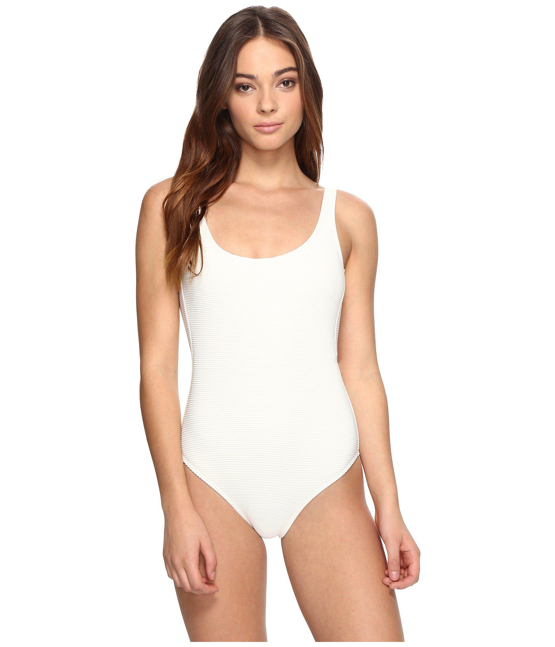 202093bb5e20 Lyst - Billabong Line Up One-piece in White
