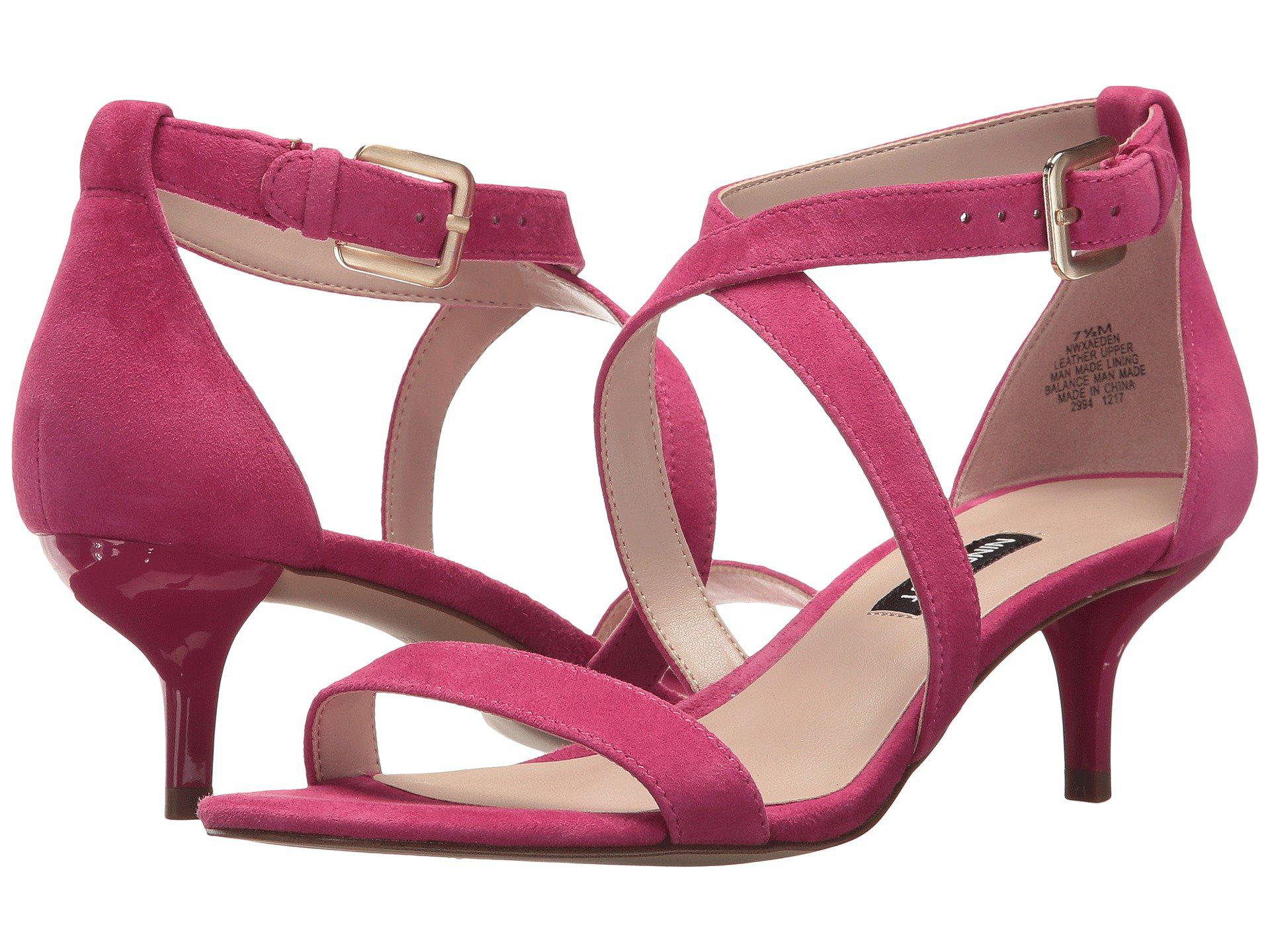 2ffc5bf45483 Lyst - Nine West Xaeden Strappy Heel Sandal in Pink - Save 15%