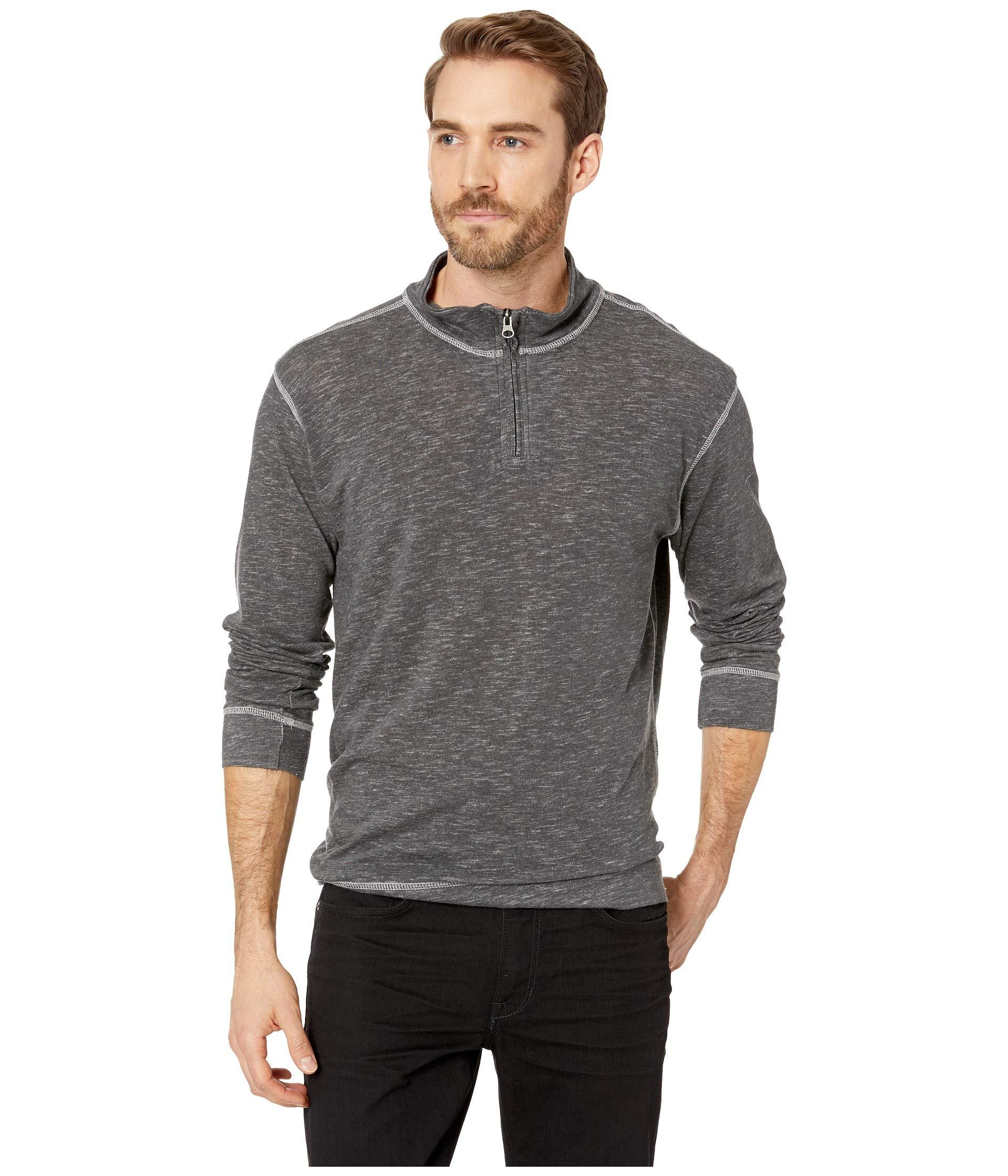 adf86af084cd Lyst - Vintage 1946 Space Dyed Jersey 1 4 Zip in Gray for Men - Save 7%