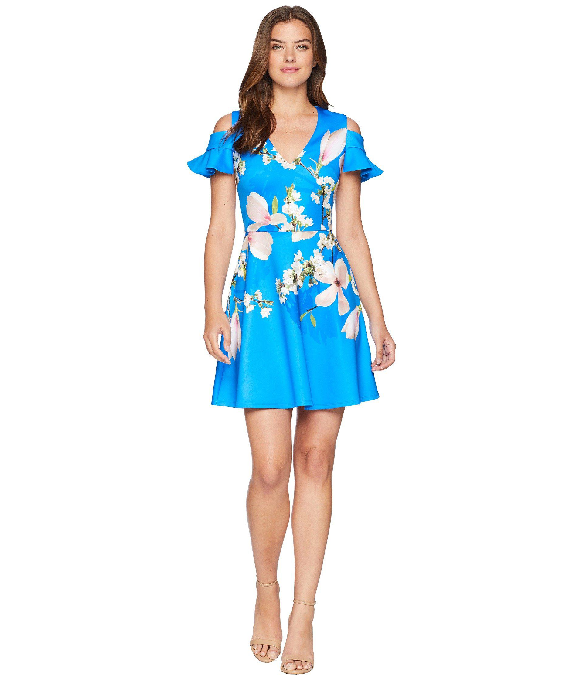 1a951a590 Lyst - Ted Baker Ambre Harmony Scallop Detail Dress in Blue