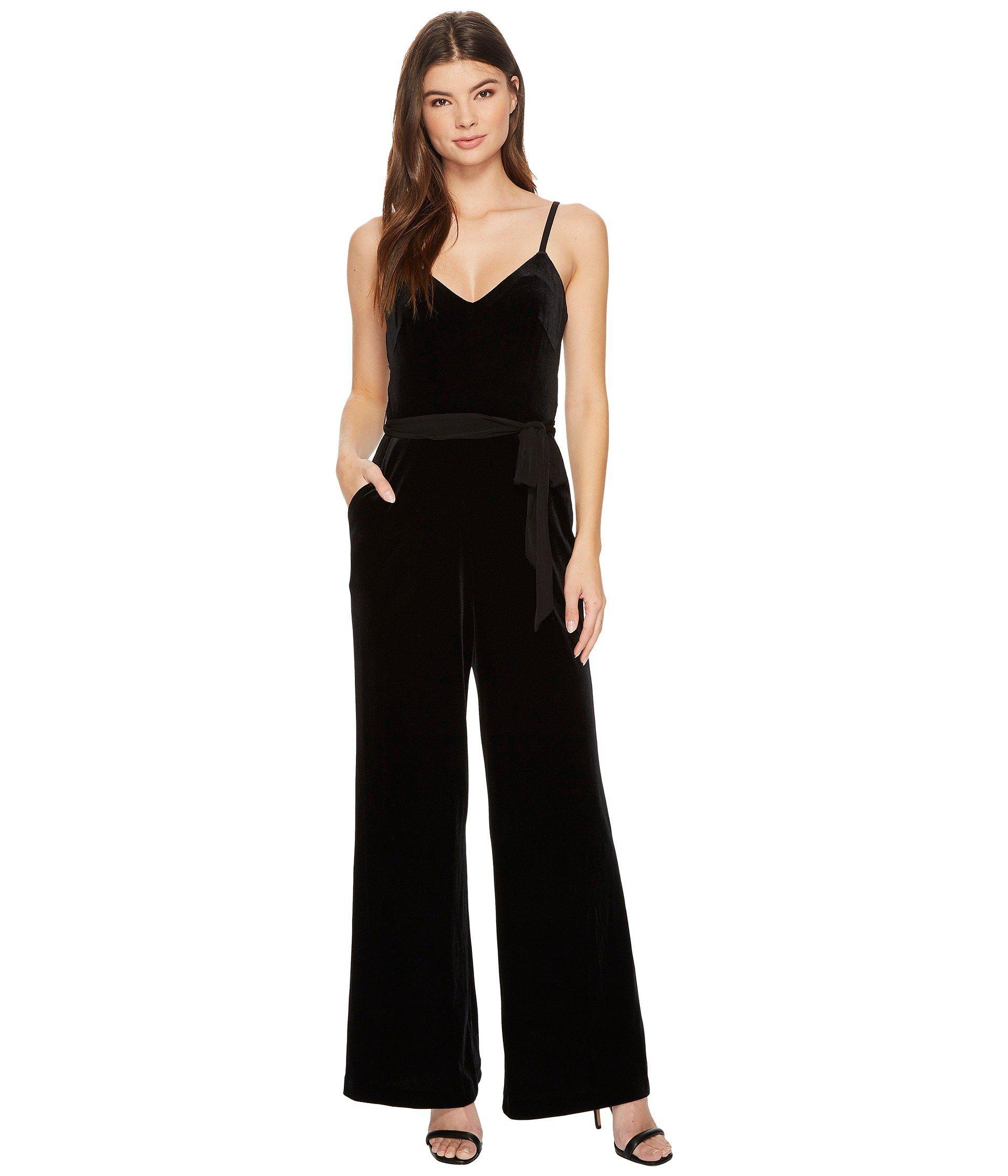 f29b4e36c07 Lyst - Calvin Klein Velvet Jumpsuit Cd7v19da in Black