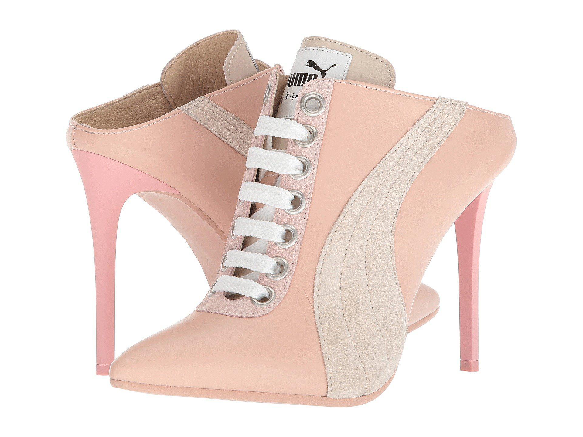 b5dfc846000 Lyst - PUMA Mule Heel in Pink