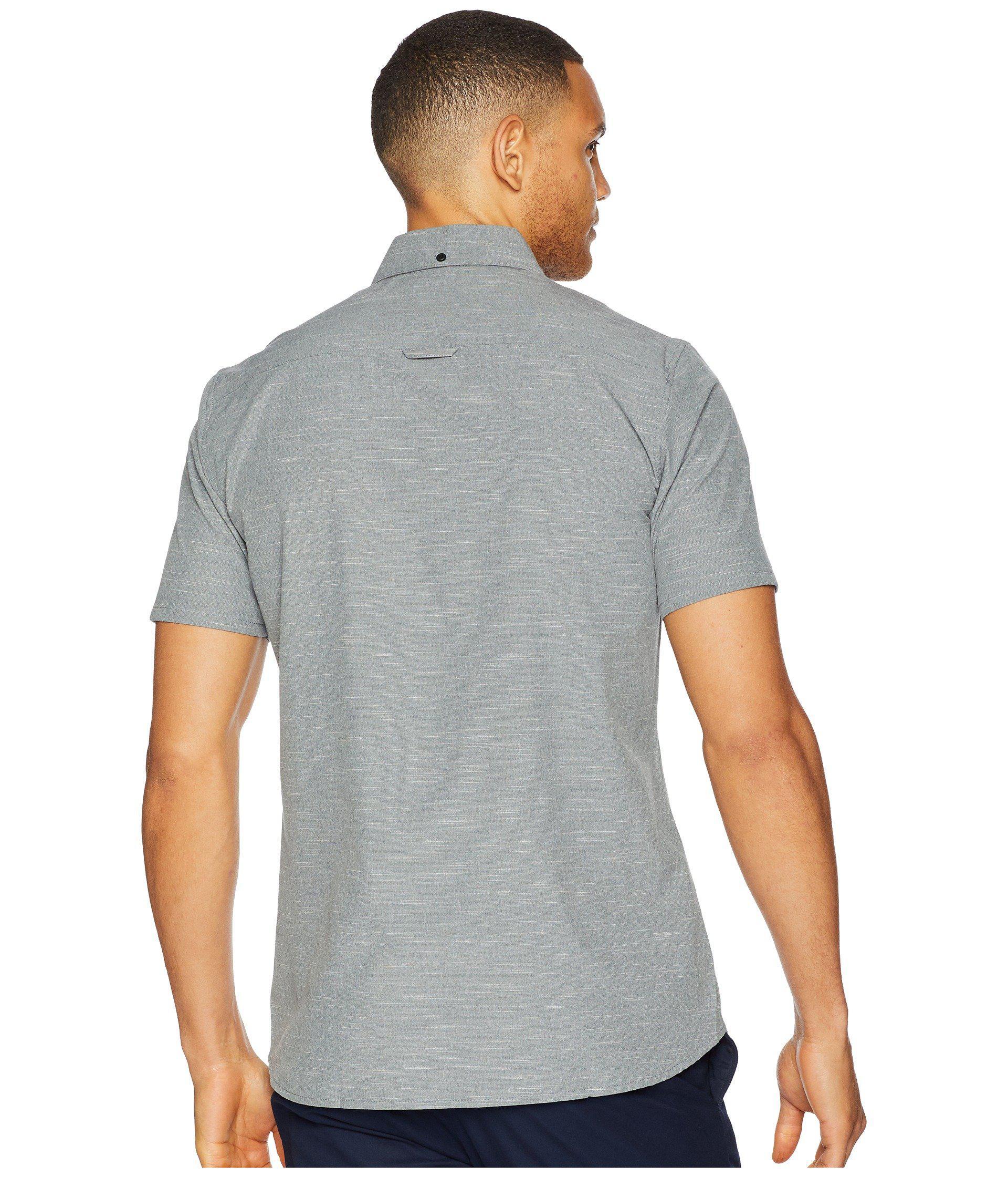 Lyst Hurley Alchemy Short Sleeve Woven In Black For Men Shirt Navy View Fullscreen