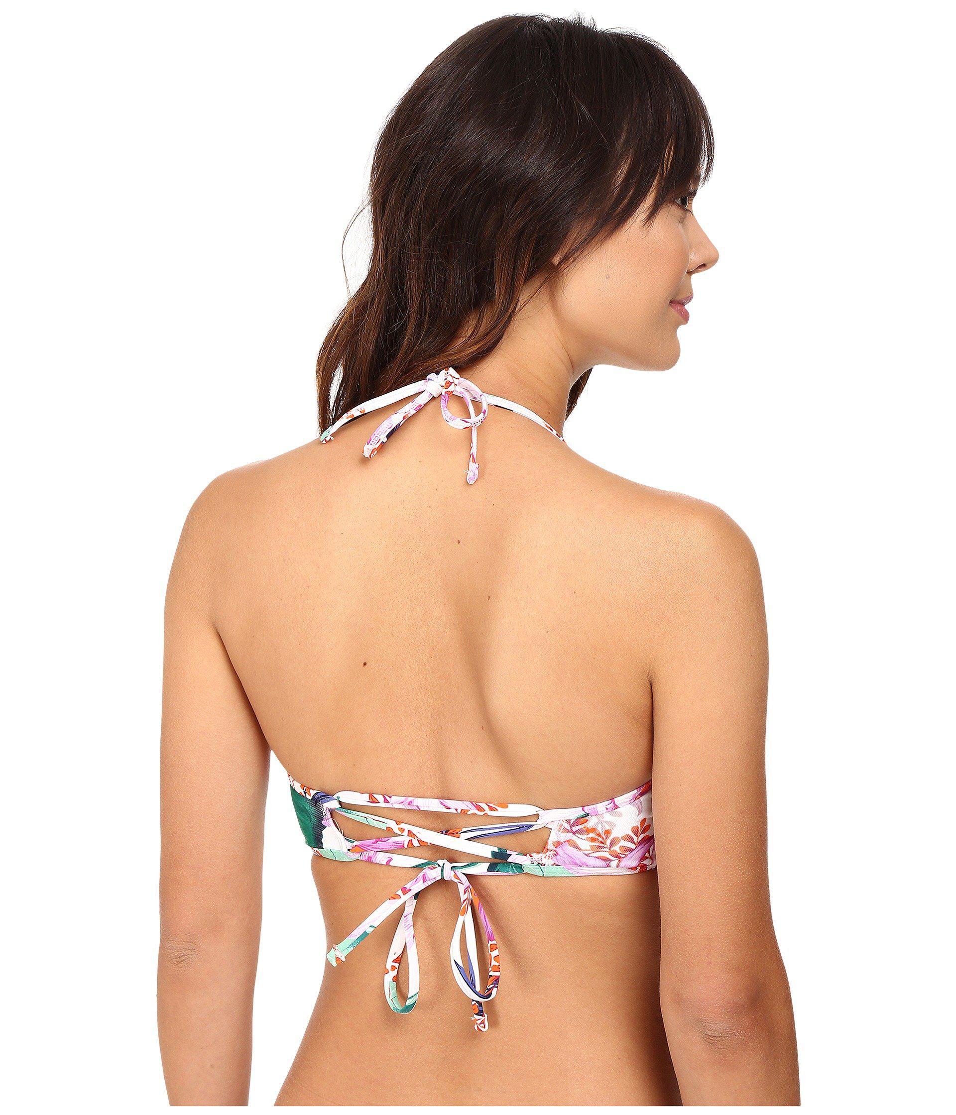 100b7fb132cb1 Tommy Bahama - White Orchid Canopy High-neck Cropped Mesh-overlay Bikini  Top -. View fullscreen