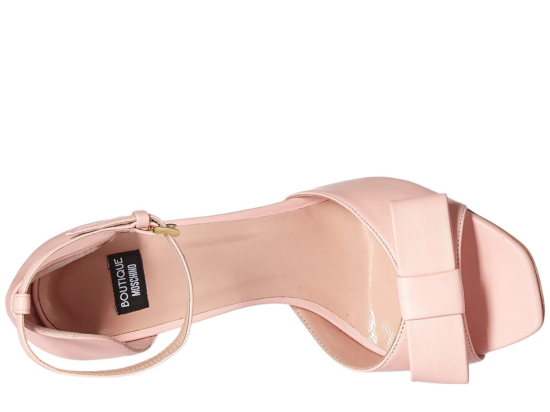 Ankle Strap Heel with Bow Boutique Moschino qVlyfaokT4