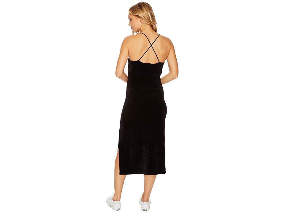 db29d30d91e8f Juicy Couture - Stretch Velour Cross-back Slip Dress (pitch Black) Dress -.  View fullscreen